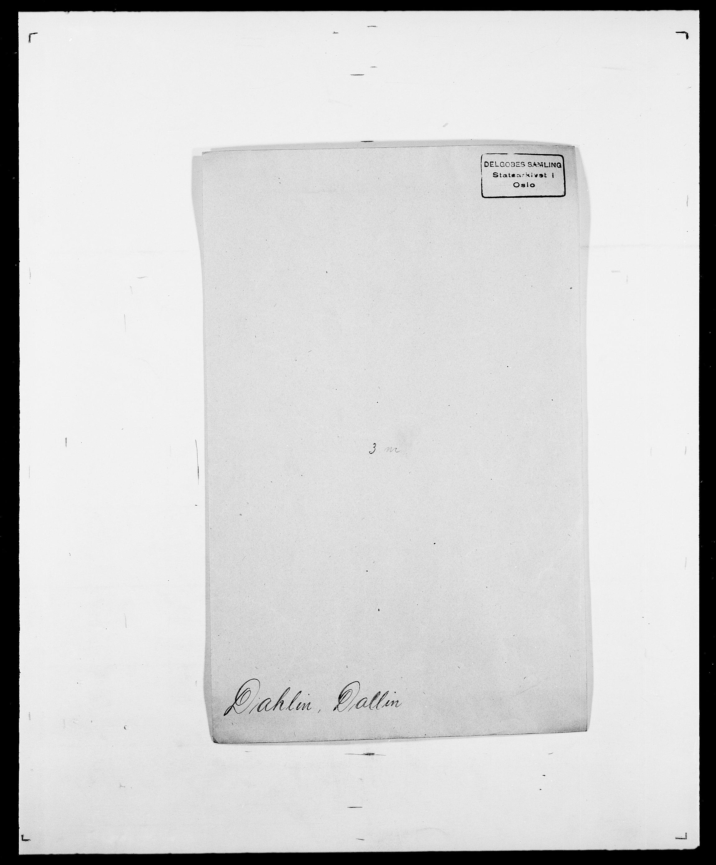 SAO, Delgobe, Charles Antoine - samling, D/Da/L0009: Dahl - v. Düren, s. 213