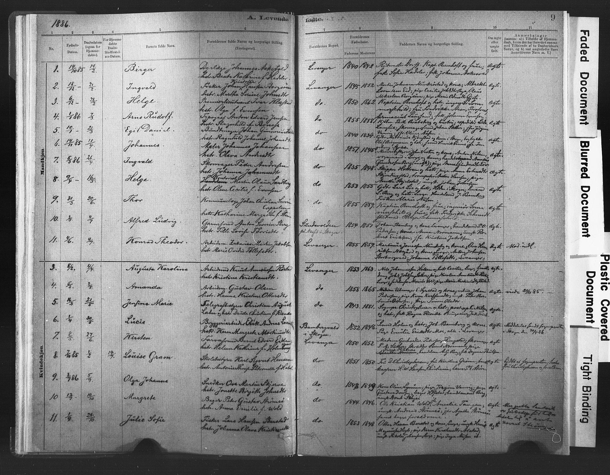 SAT, Ministerialprotokoller, klokkerbøker og fødselsregistre - Nord-Trøndelag, 720/L0189: Ministerialbok nr. 720A05, 1880-1911, s. 9