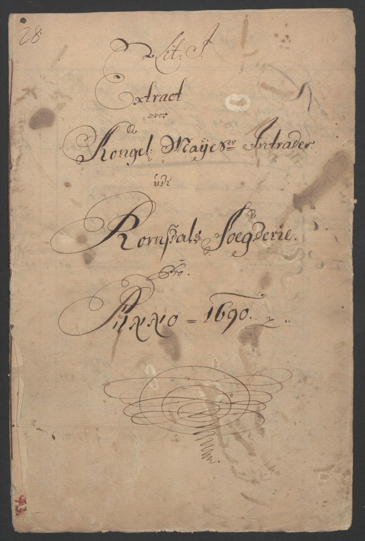RA, Rentekammeret inntil 1814, Reviderte regnskaper, Fogderegnskap, R55/L3649: Fogderegnskap Romsdal, 1690-1691, s. 3