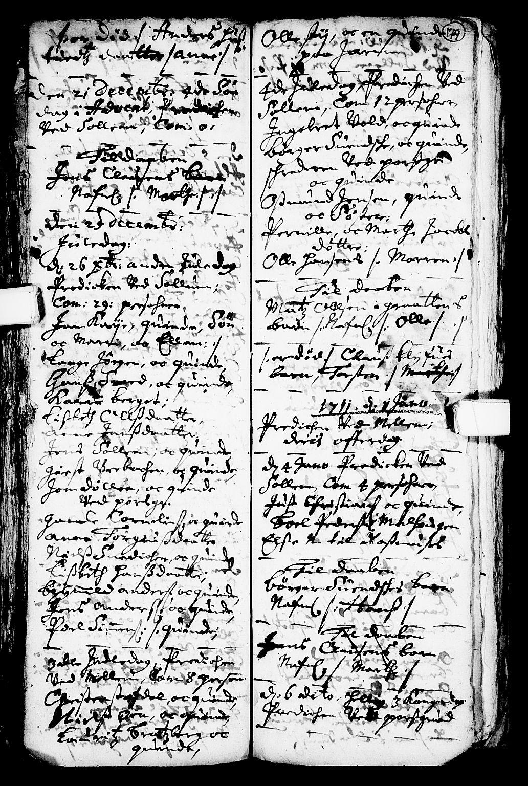 SAKO, Solum kirkebøker, F/Fa/L0001: Ministerialbok nr. I 1, 1701-1716, s. 179