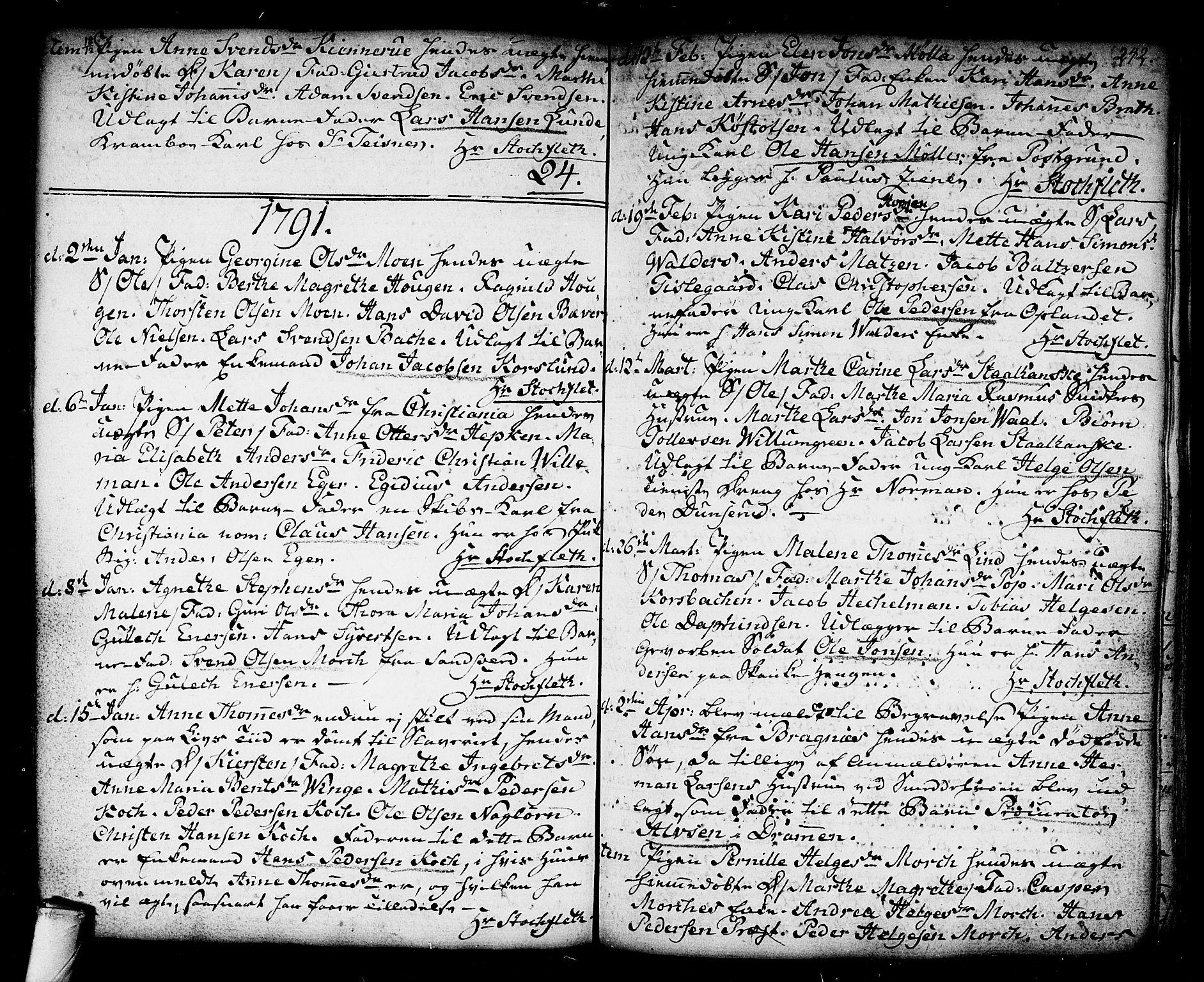 SAKO, Kongsberg kirkebøker, F/Fa/L0006: Ministerialbok nr. I 6, 1783-1797, s. 242