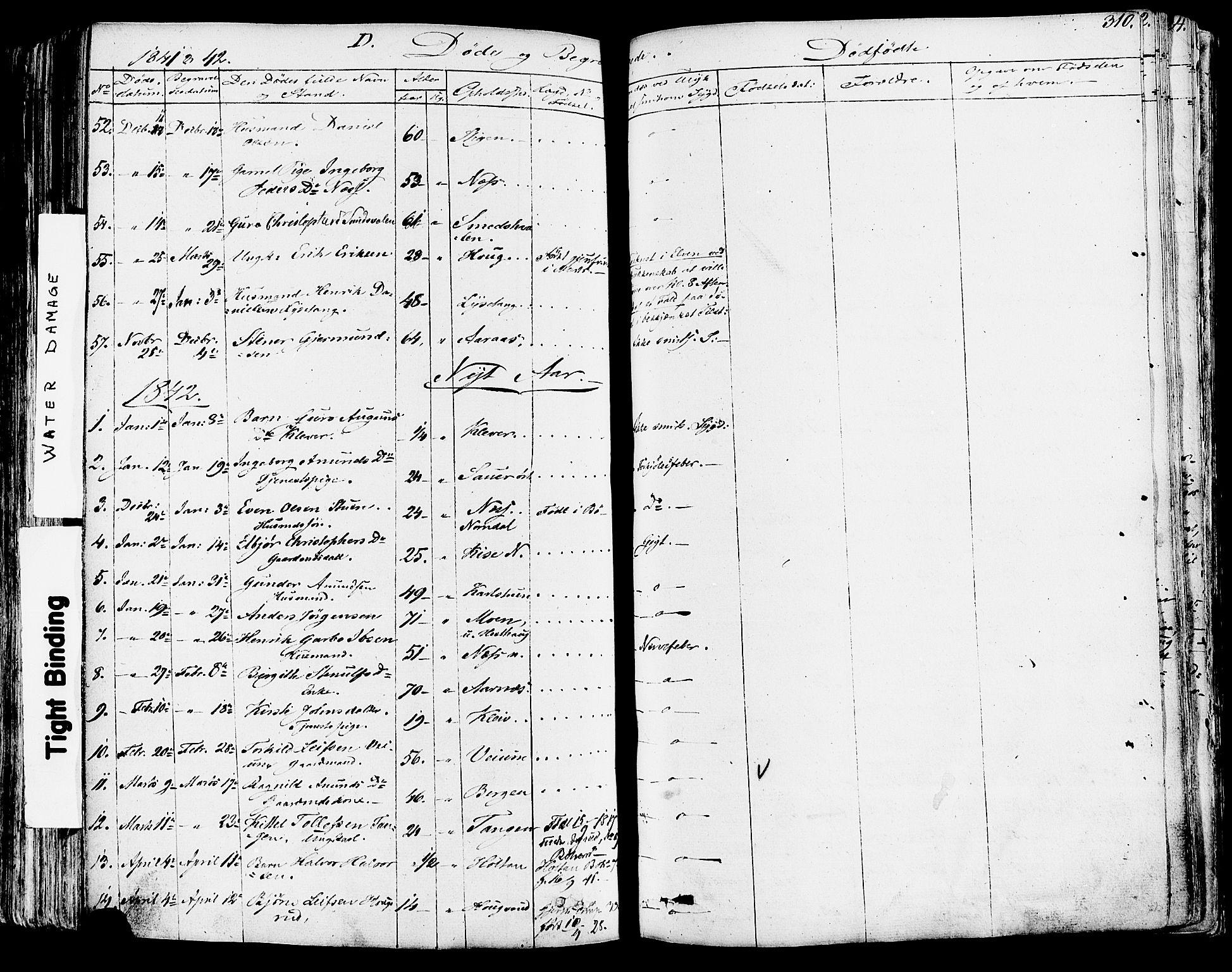SAKO, Sauherad kirkebøker, F/Fa/L0006: Ministerialbok nr. I 6, 1827-1850, s. 310