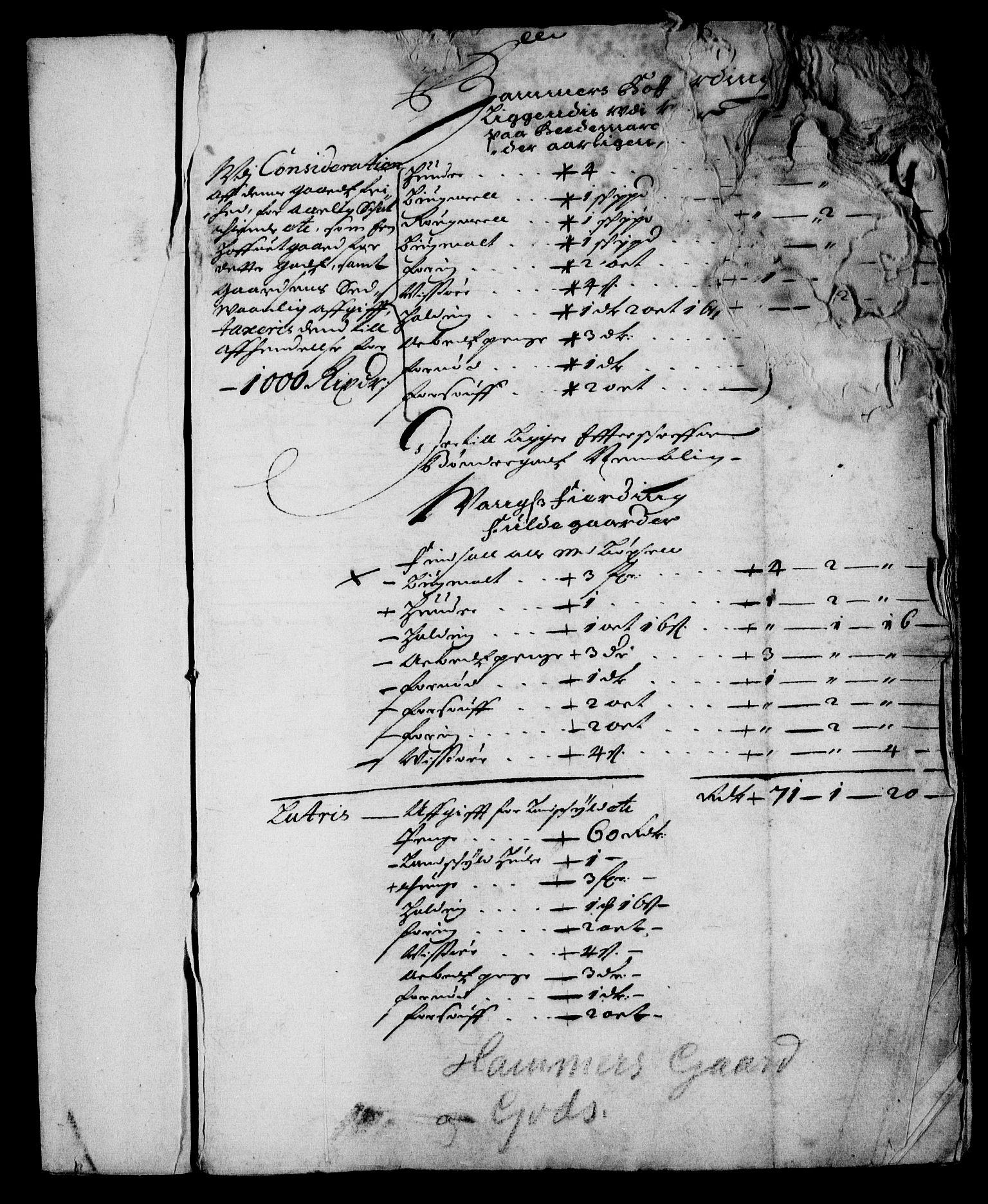 RA, Rentekammeret inntil 1814, Realistisk ordnet avdeling, On/L0008: [Jj 9]: Jordebøker innlevert til kongelig kommisjon 1672: Hammar, Osgård, Sem med Skjelbred, Fossesholm, Fiskum og Ulland (1669-1672), Strøm (1658-u.d. og 1672-73) samt Svanøy gods i Sunnfjord (1657)., 1672, s. 2