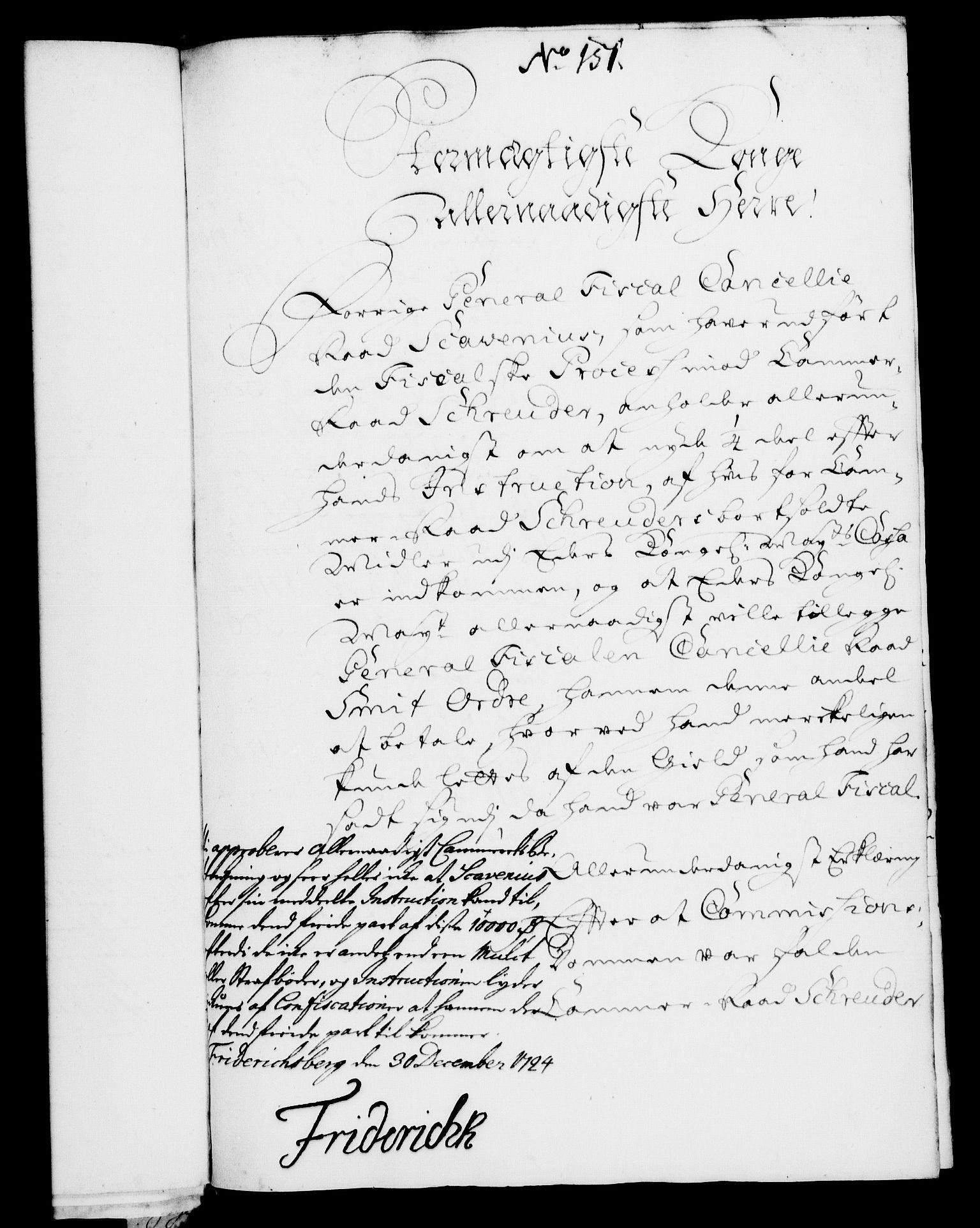 RA, Rentekammeret, Kammerkanselliet, G/Gf/Gfa/L0007: Norsk relasjons- og resolusjonsprotokoll (merket RK 52.7), 1724, s. 963