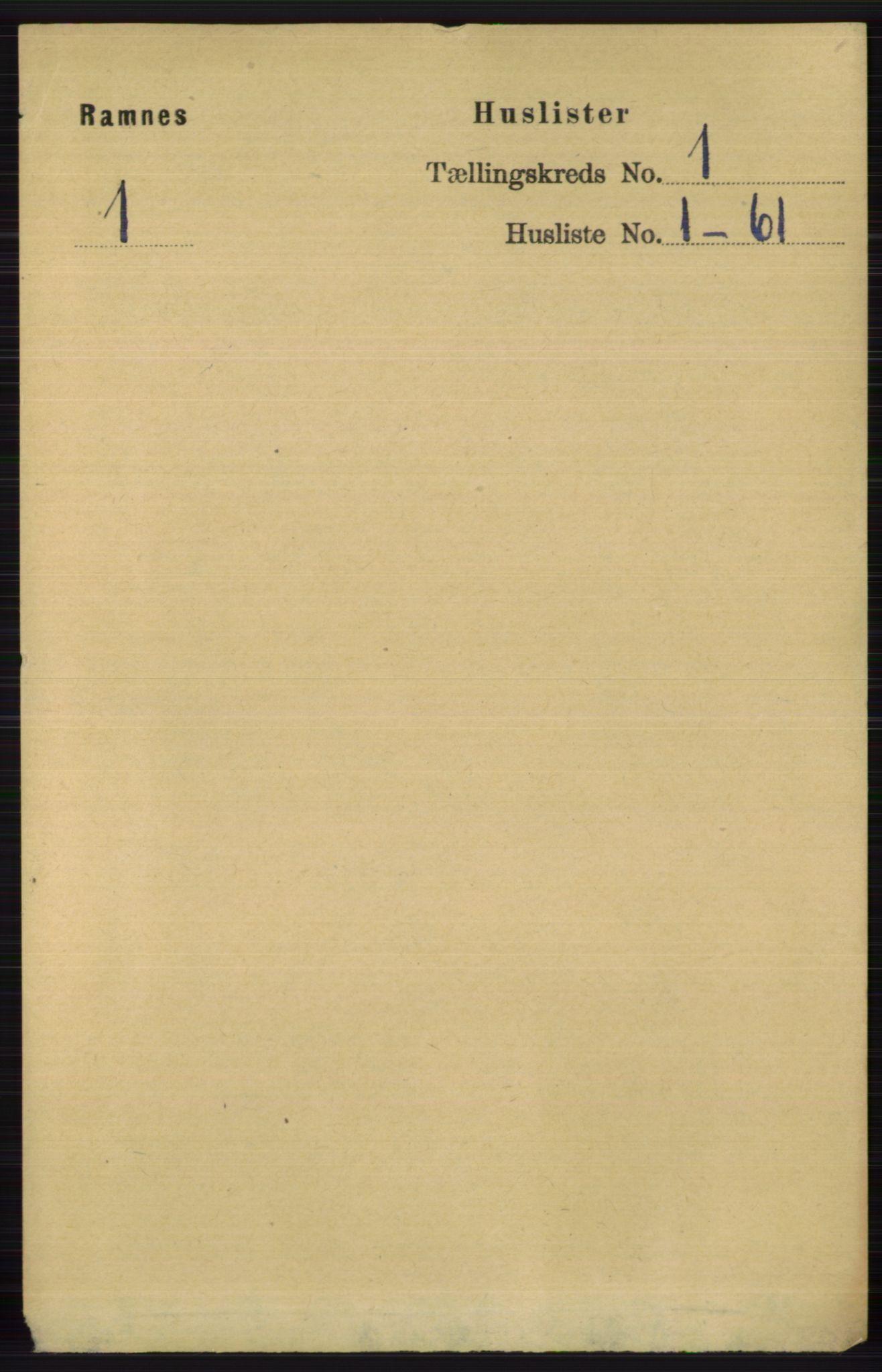 RA, Folketelling 1891 for 0718 Ramnes herred, 1891, s. 27