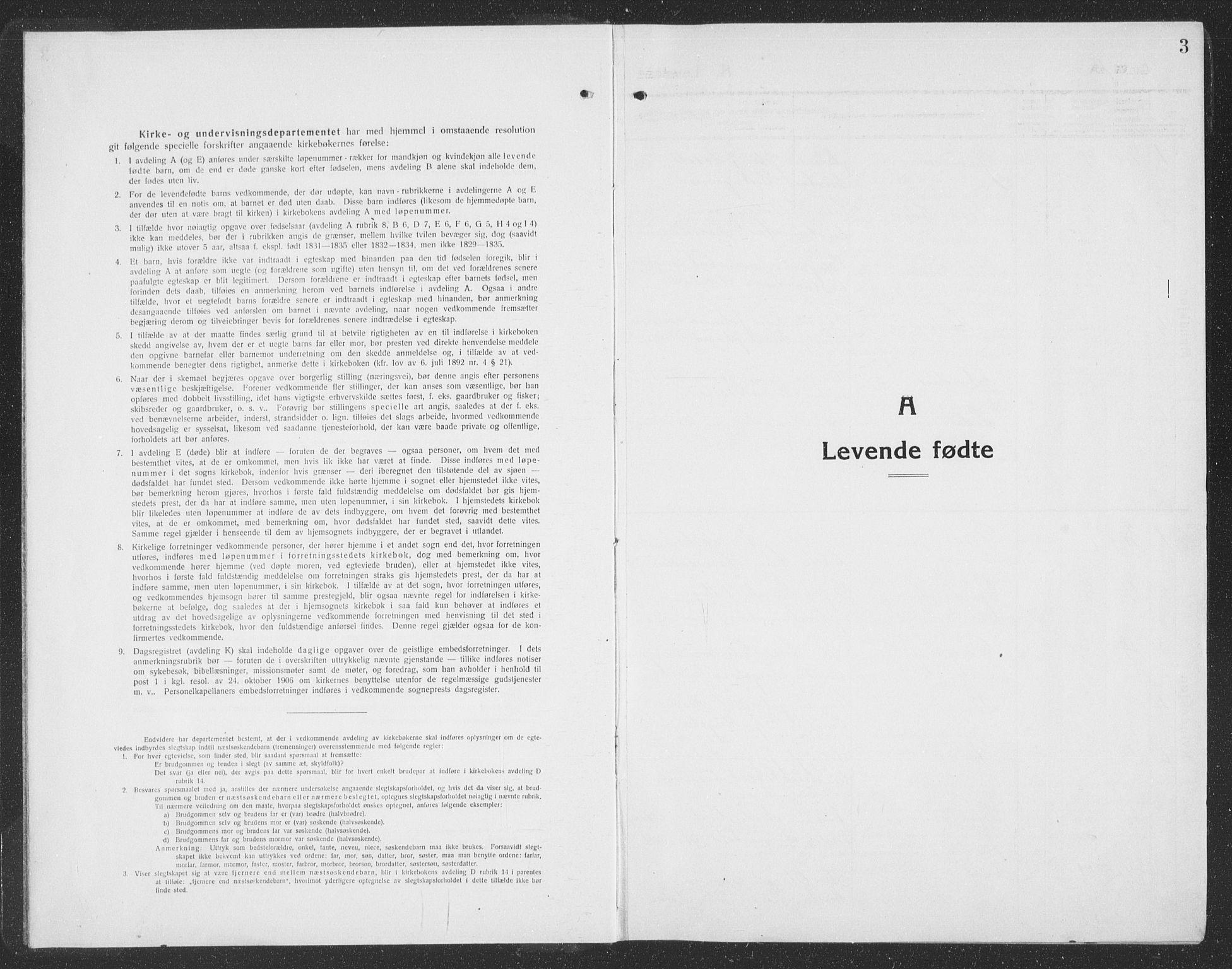 SAT, Ministerialprotokoller, klokkerbøker og fødselsregistre - Sør-Trøndelag, 688/L1030: Klokkerbok nr. 688C05, 1916-1939, s. 3