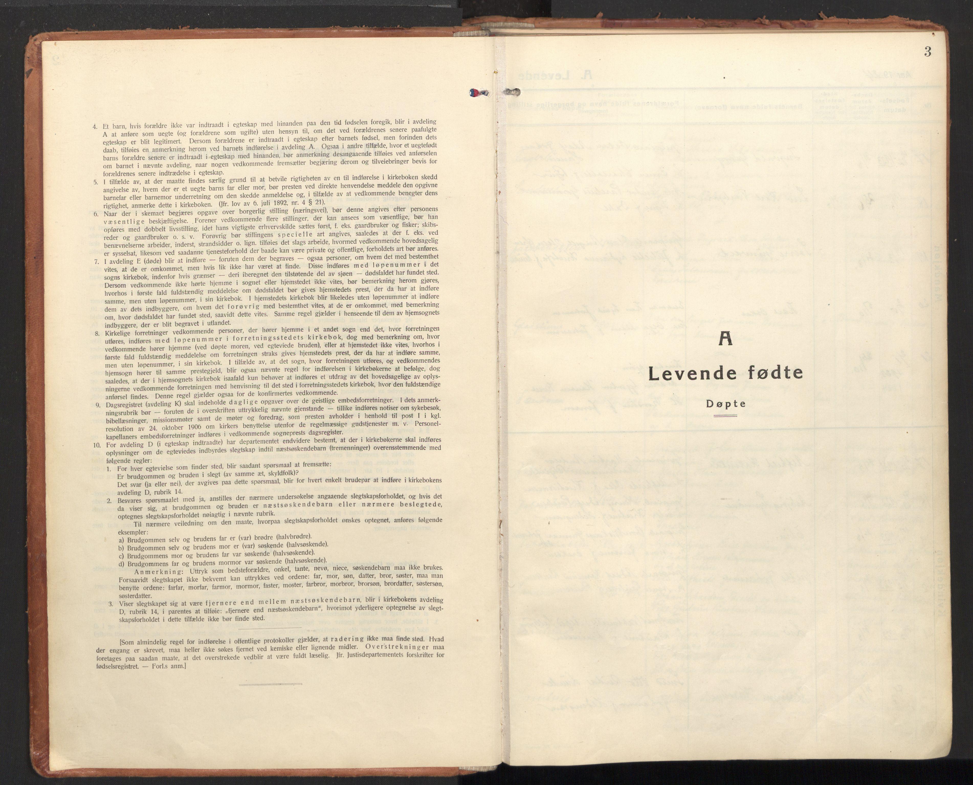 SAT, Ministerialprotokoller, klokkerbøker og fødselsregistre - Nordland, 850/L0716: Residerende kapellans bok nr. 850B06, 1924-1938, s. 3