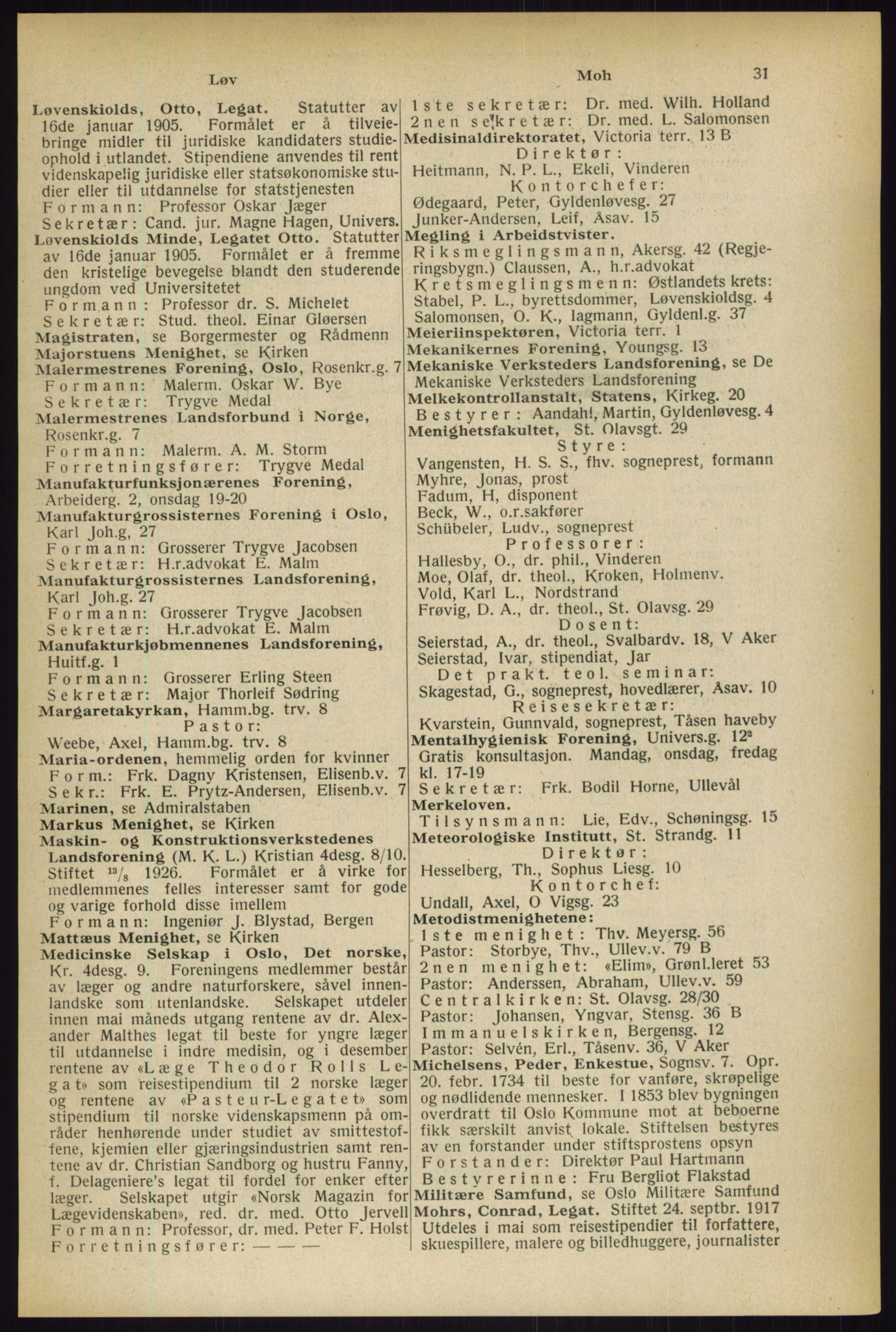 RA, Oslo adressebok (publikasjon)*, 1933, s. 31