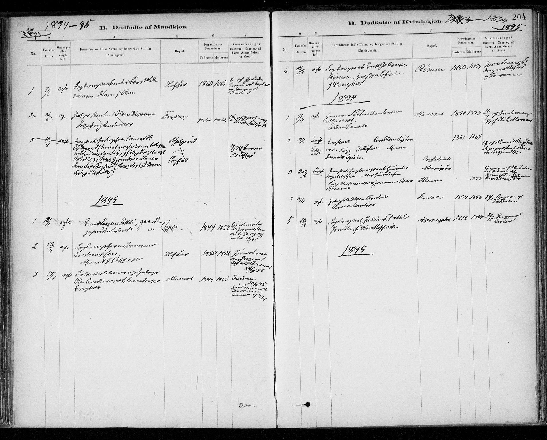 SAT, Ministerialprotokoller, klokkerbøker og fødselsregistre - Sør-Trøndelag, 668/L0809: Ministerialbok nr. 668A09, 1881-1895, s. 204