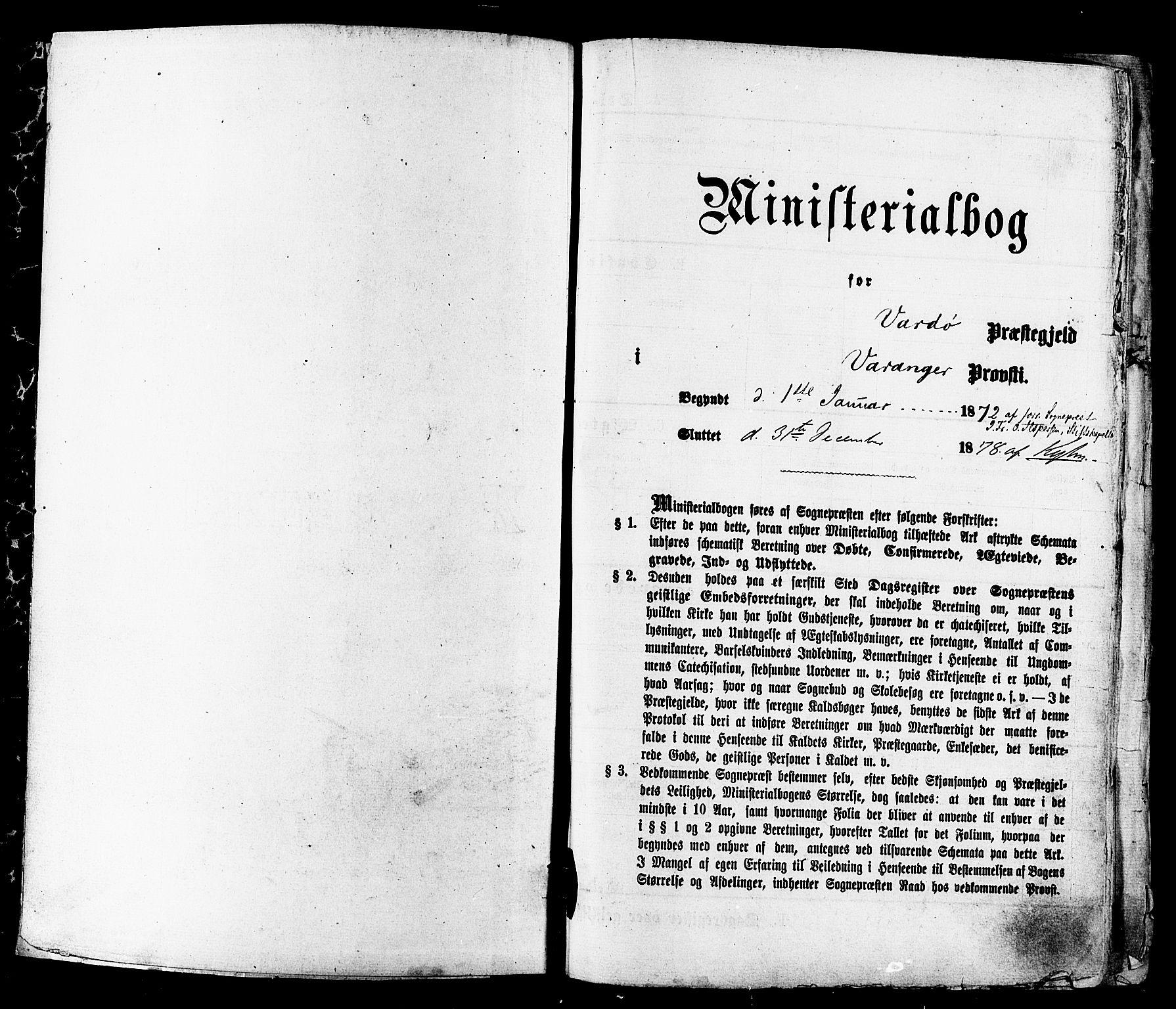 SATØ, Vardø sokneprestkontor, H/Ha/L0005kirke: Ministerialbok nr. 5, 1872-1878