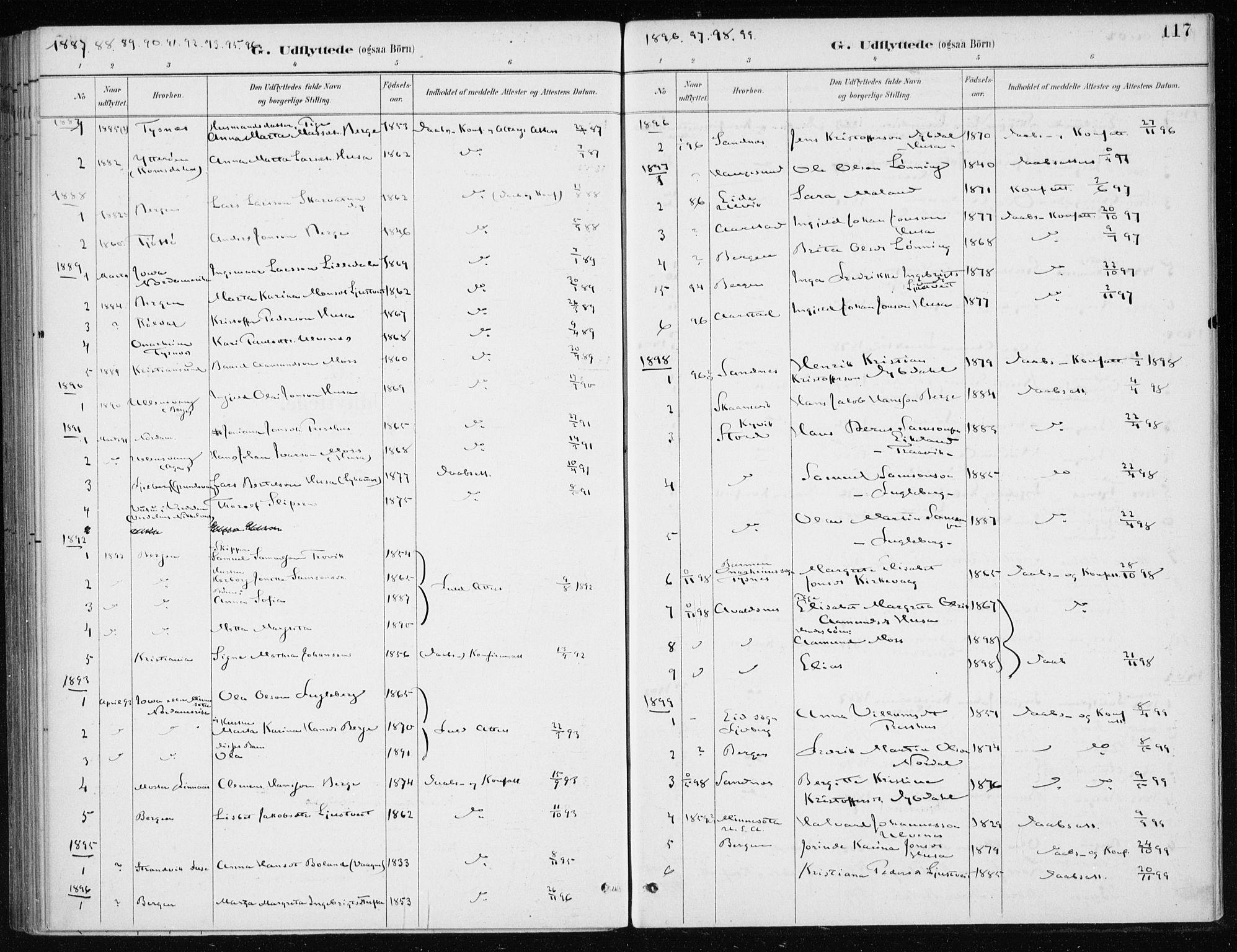 SAB, Kvinnherad Sokneprestembete, H/Haa: Ministerialbok nr. E 1, 1887-1912