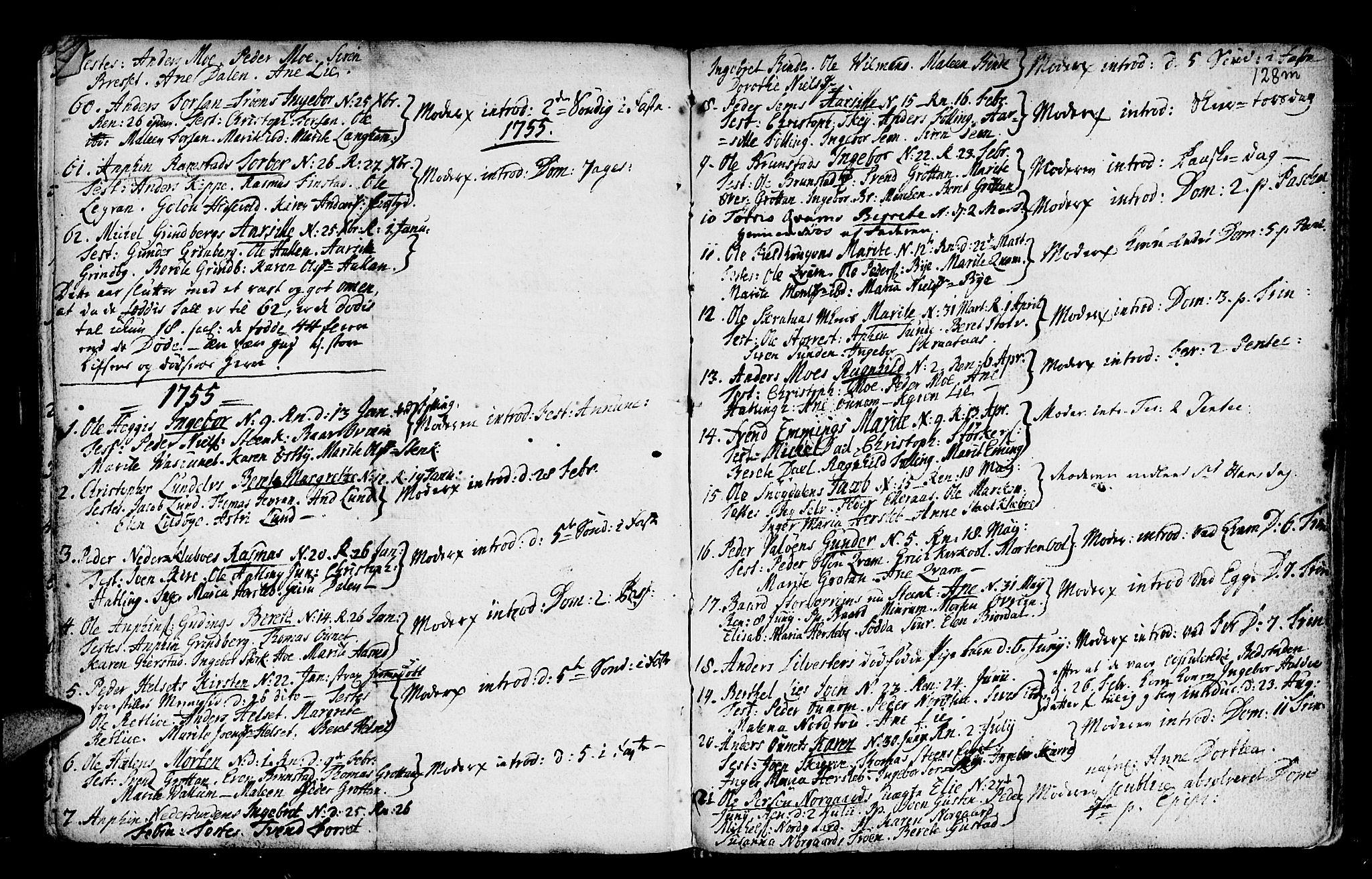 SAT, Ministerialprotokoller, klokkerbøker og fødselsregistre - Nord-Trøndelag, 746/L0439: Ministerialbok nr. 746A01, 1688-1759, s. 128l