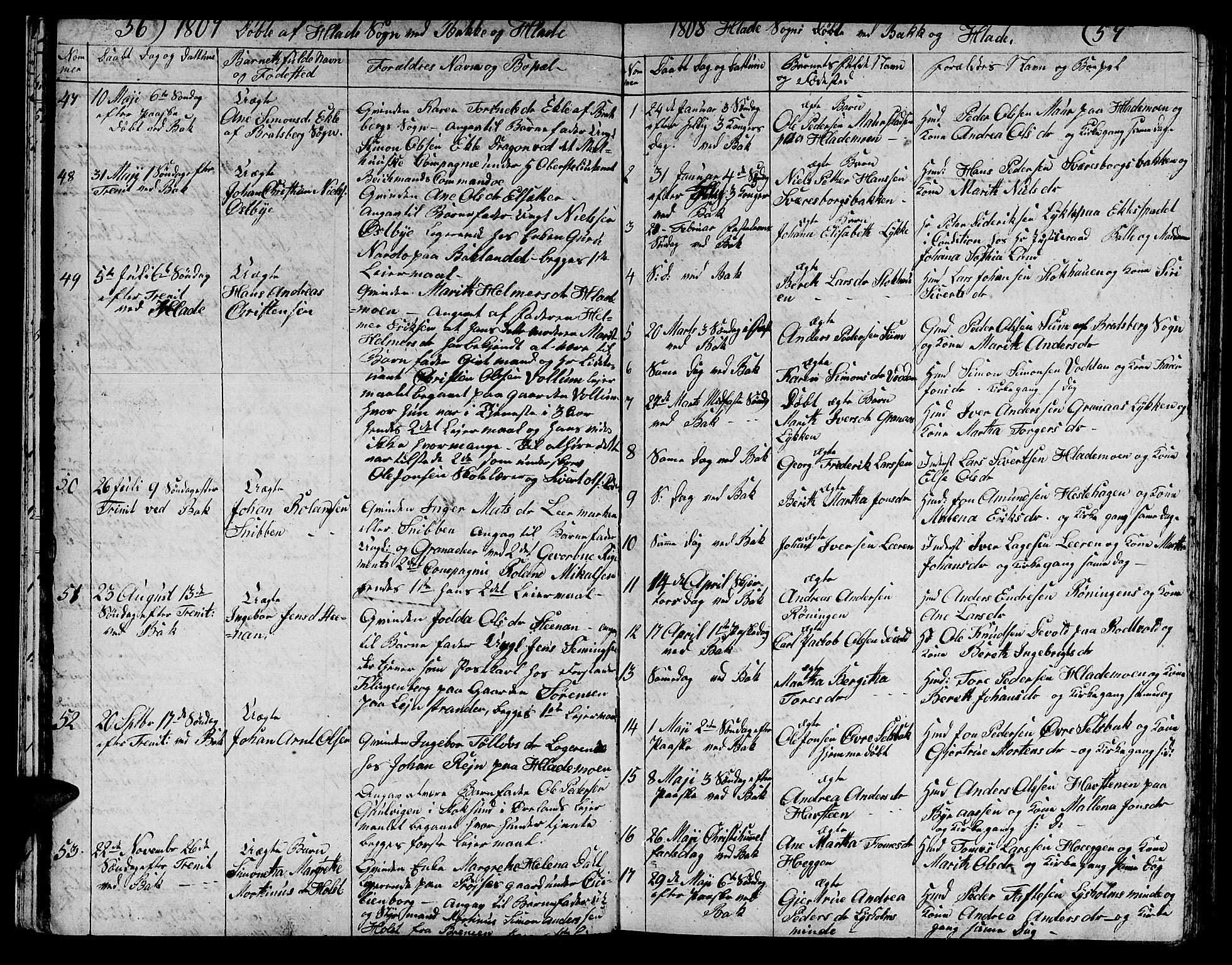 SAT, Ministerialprotokoller, klokkerbøker og fødselsregistre - Sør-Trøndelag, 606/L0306: Klokkerbok nr. 606C02, 1797-1829, s. 56-57