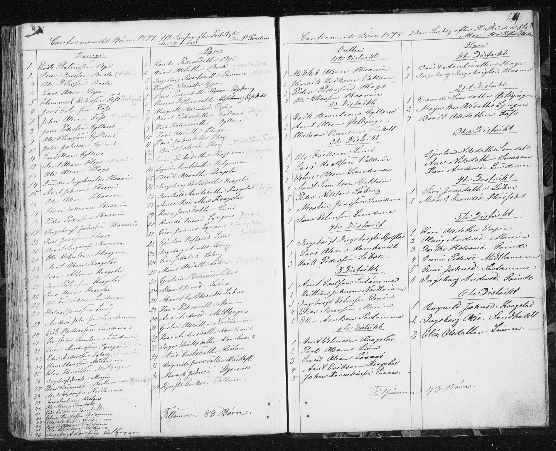 SAT, Ministerialprotokoller, klokkerbøker og fødselsregistre - Sør-Trøndelag, 692/L1110: Klokkerbok nr. 692C05, 1849-1889, s. 269