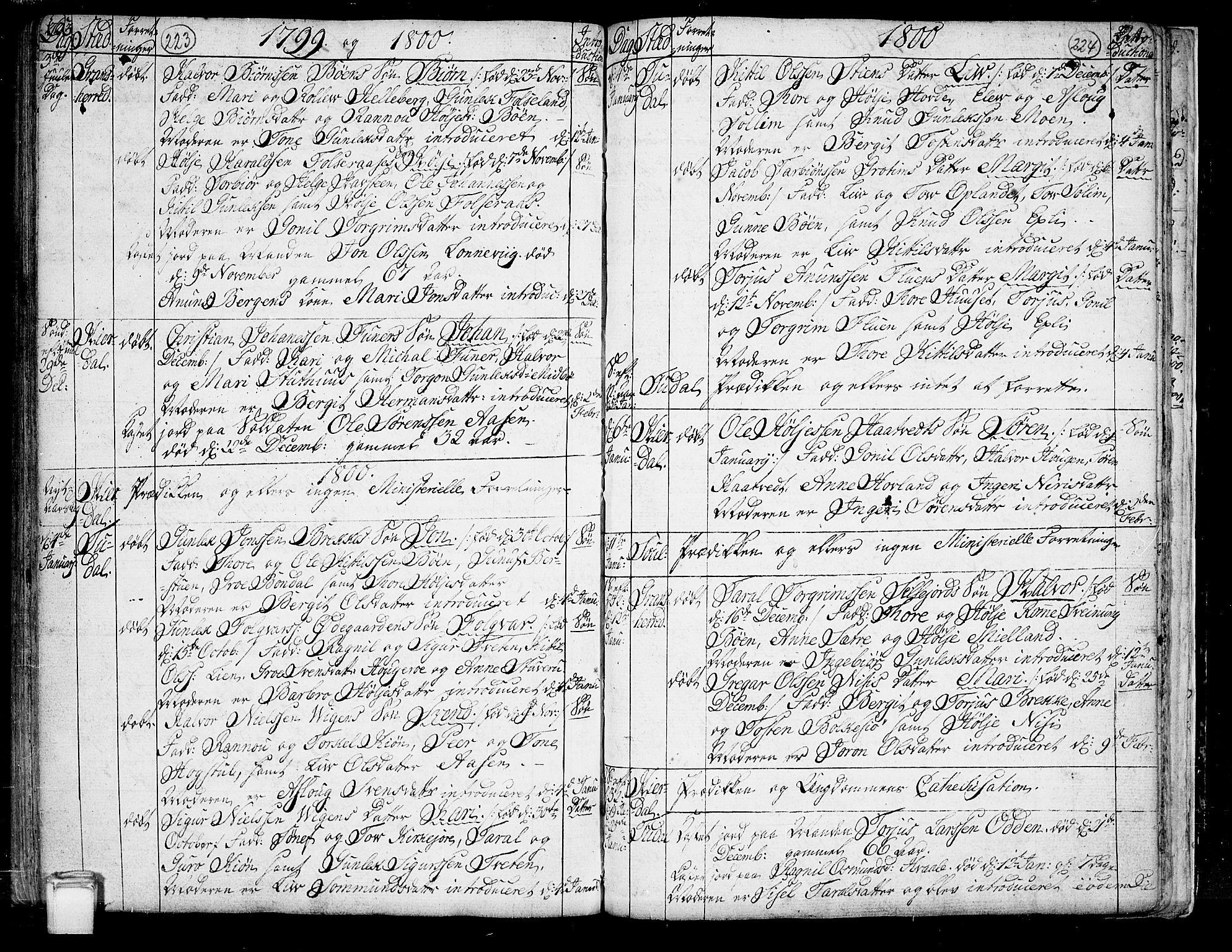 SAKO, Hjartdal kirkebøker, F/Fa/L0005: Ministerialbok nr. I 5, 1776-1801, s. 223-224