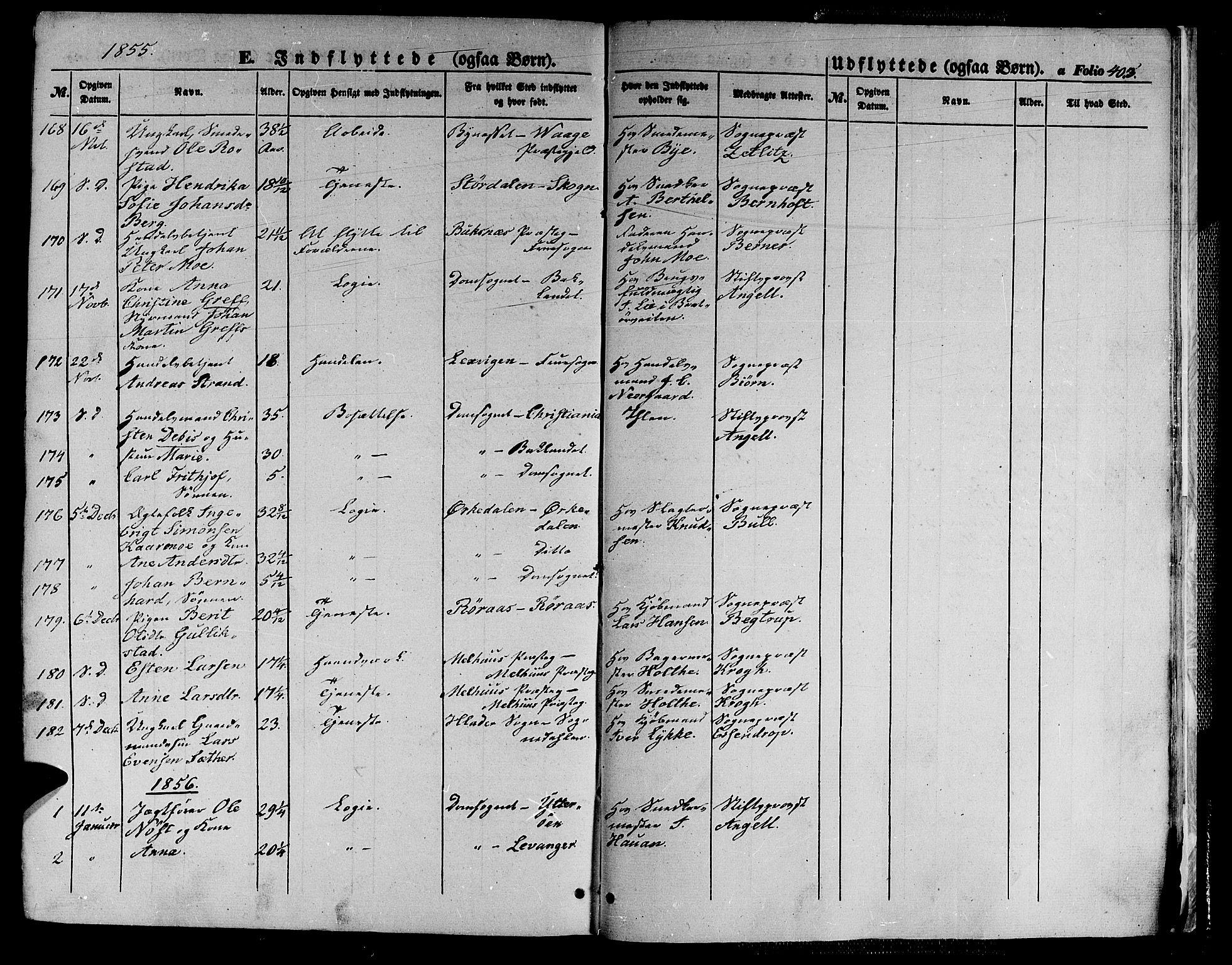 SAT, Ministerialprotokoller, klokkerbøker og fødselsregistre - Sør-Trøndelag, 602/L0137: Klokkerbok nr. 602C05, 1846-1856, s. 403