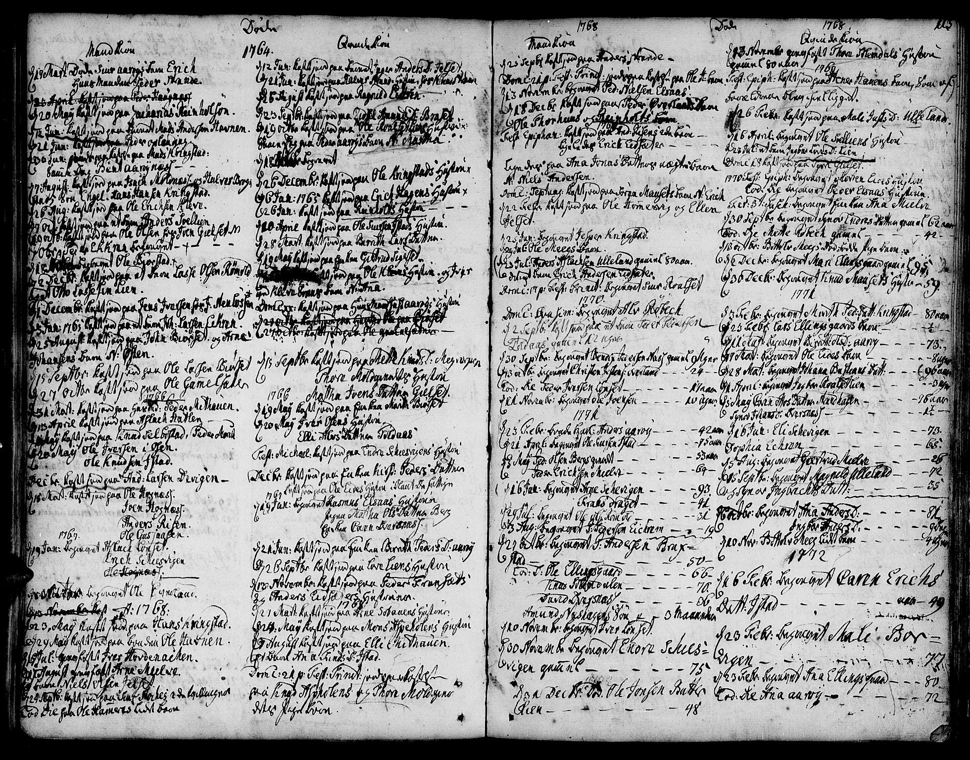 SAT, Ministerialprotokoller, klokkerbøker og fødselsregistre - Møre og Romsdal, 555/L0648: Ministerialbok nr. 555A01, 1759-1793, s. 113