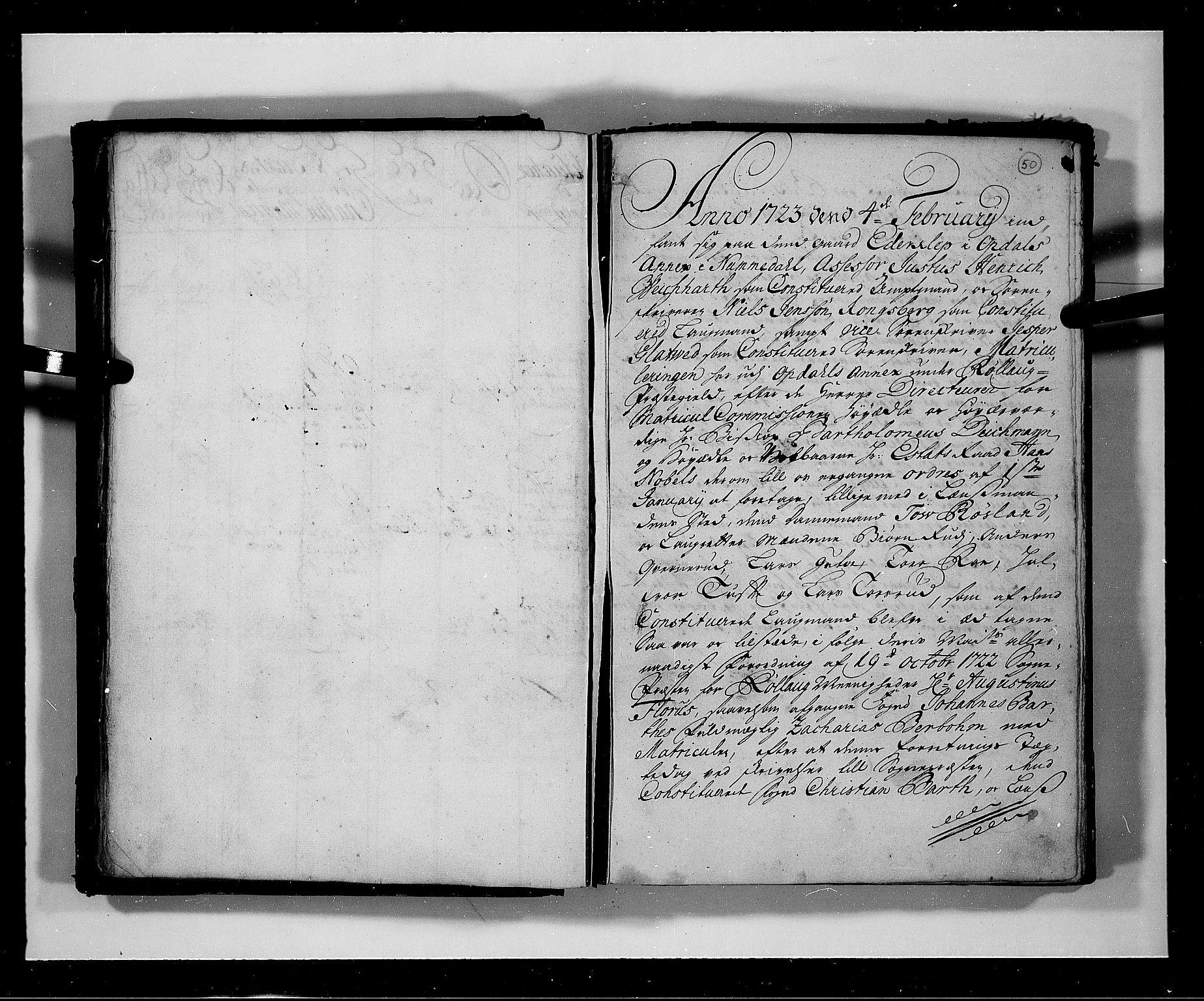 RA, Rentekammeret inntil 1814, Realistisk ordnet avdeling, N/Nb/Nbf/L0113: Numedal og Sandsvær eksaminasjonsprotokoll, 1723, s. 49b-50a