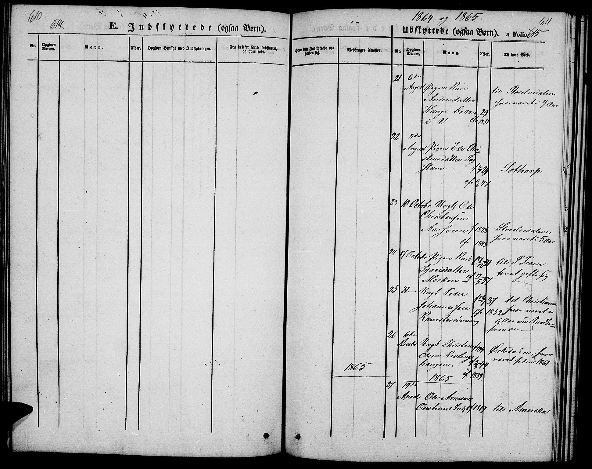 SAH, Ringebu prestekontor, Klokkerbok nr. 3, 1854-1866, s. 610-611