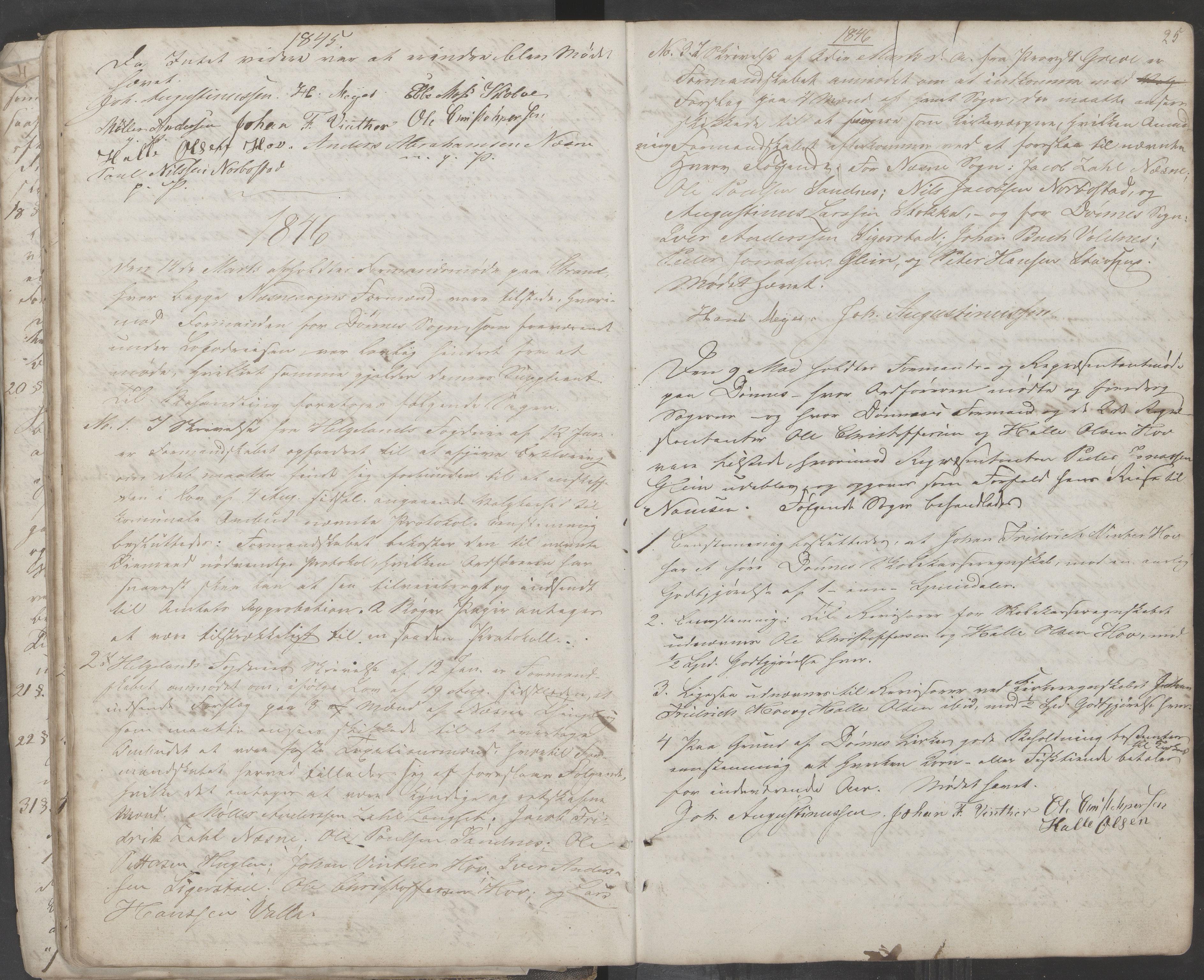 AIN, Nesna kommune. Formannskapet, 100/L0001: Møtebok, 1838-1873, s. 25