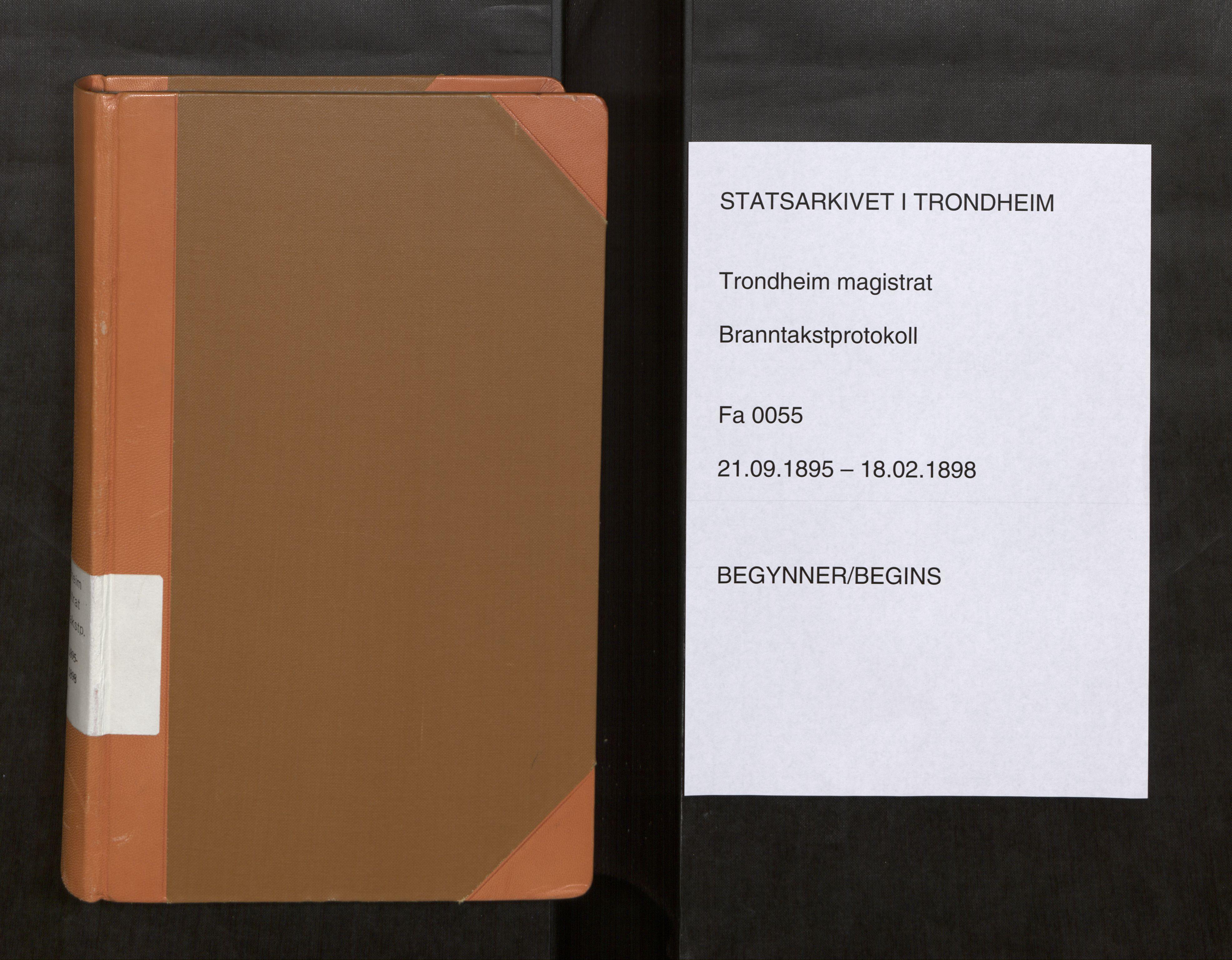 SAT, Norges Brannkasse Trondheim magistrat, Fa/L0058: Branntakstprotokoll X, 1895-1898