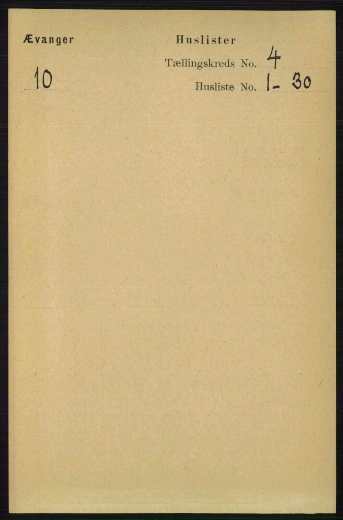 RA, Folketelling 1891 for 1237 Evanger herred, 1891, s. 1106