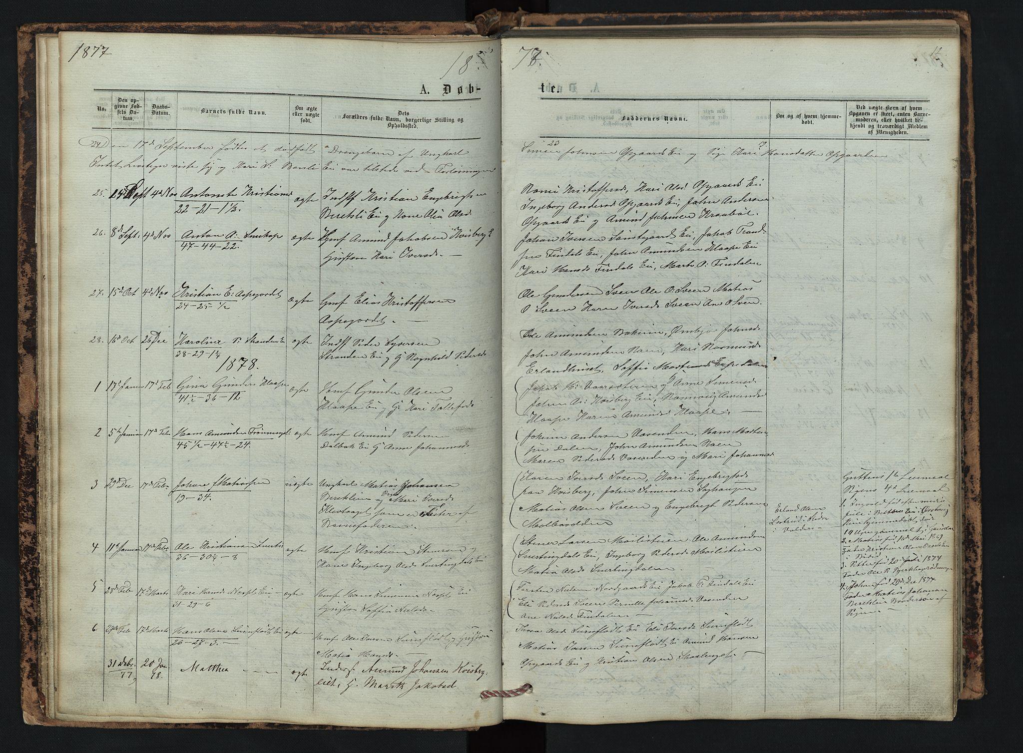 SAH, Vestre Gausdal prestekontor, Klokkerbok nr. 2, 1874-1897, s. 12