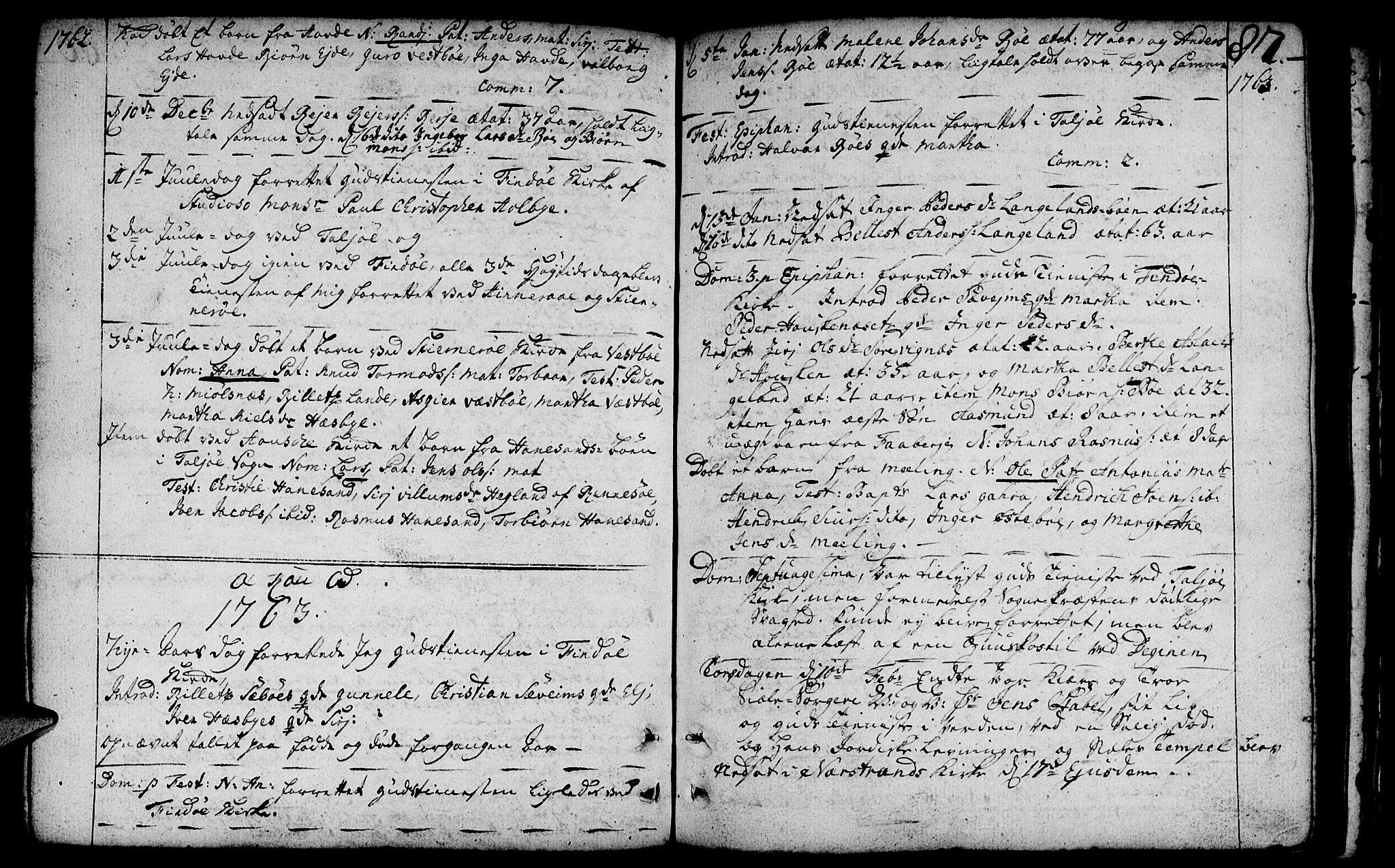 SAST, Finnøy sokneprestkontor, H/Ha/Haa/L0004: Ministerialbok nr. A 4, 1746-1772, s. 87