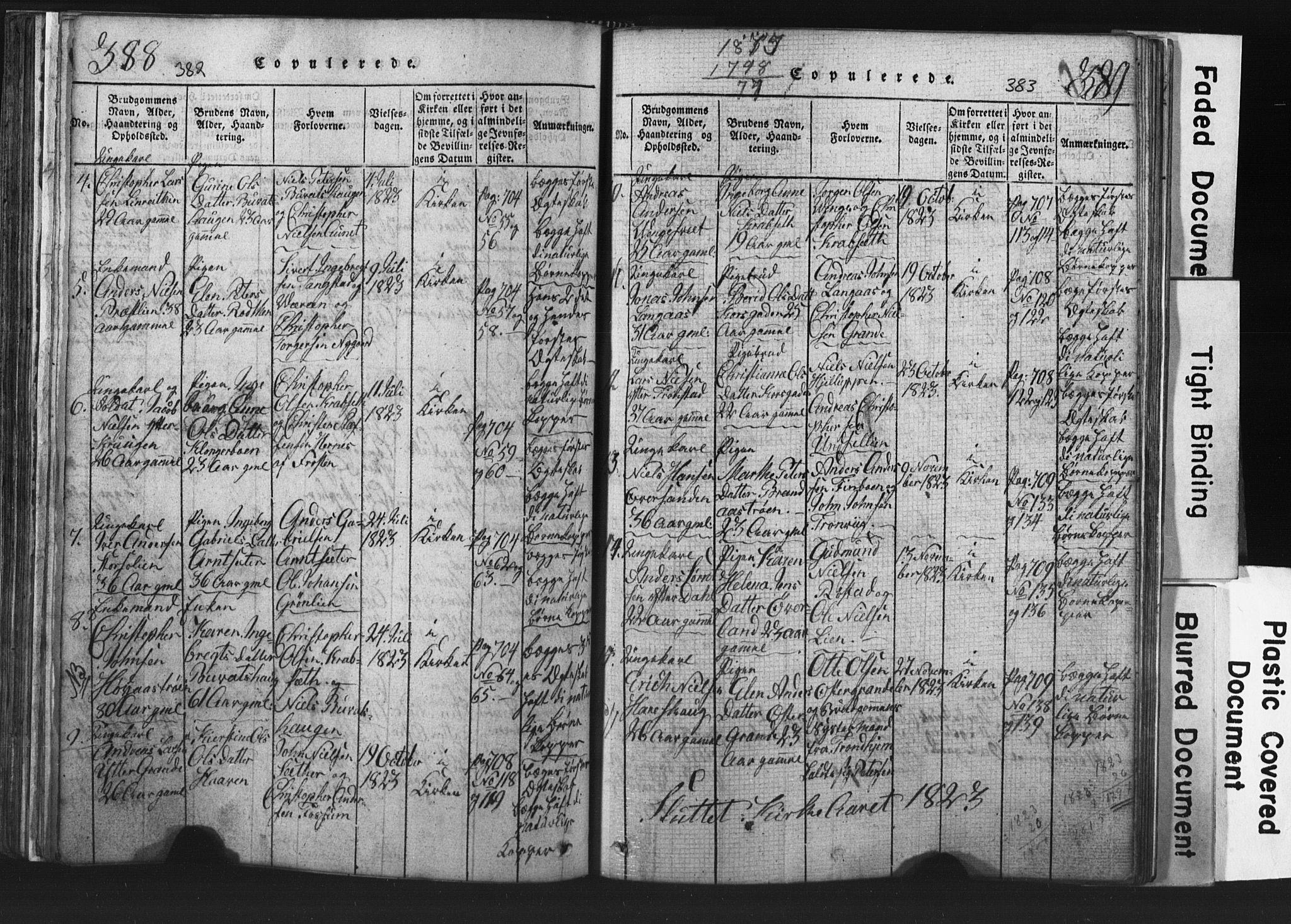 SAT, Ministerialprotokoller, klokkerbøker og fødselsregistre - Nord-Trøndelag, 701/L0017: Klokkerbok nr. 701C01, 1817-1825, s. 382-383