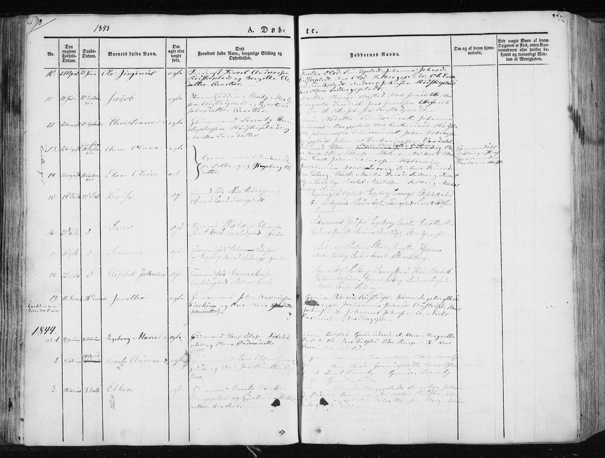 SAT, Ministerialprotokoller, klokkerbøker og fødselsregistre - Nord-Trøndelag, 730/L0280: Ministerialbok nr. 730A07 /2, 1840-1854, s. 108