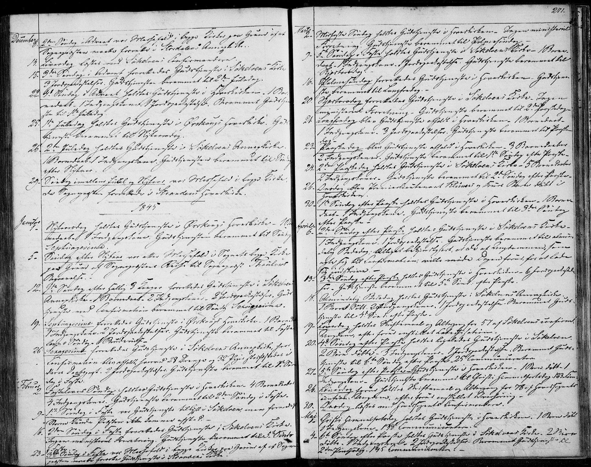 SAT, Ministerialprotokoller, klokkerbøker og fødselsregistre - Møre og Romsdal, 522/L0312: Ministerialbok nr. 522A07, 1843-1851, s. 271