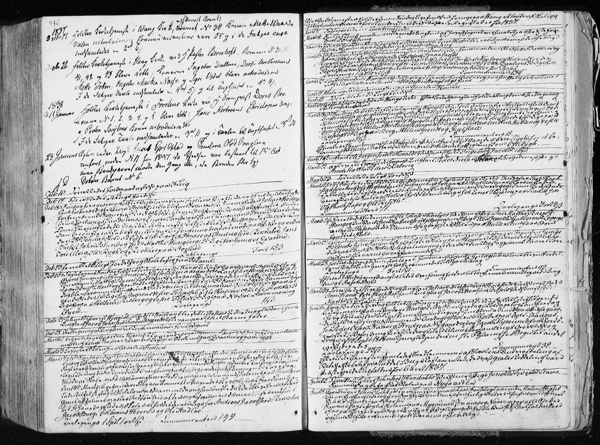 SAT, Ministerialprotokoller, klokkerbøker og fødselsregistre - Nord-Trøndelag, 713/L0114: Ministerialbok nr. 713A05, 1827-1839, s. 356