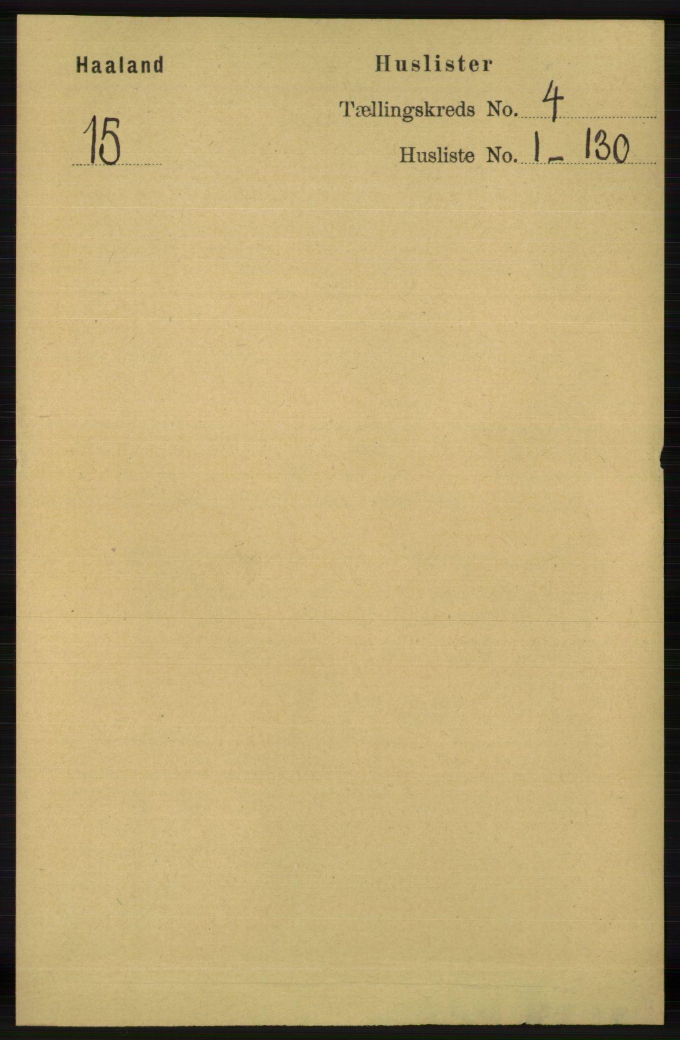 RA, Folketelling 1891 for 1124 Haaland herred, 1891, s. 2283