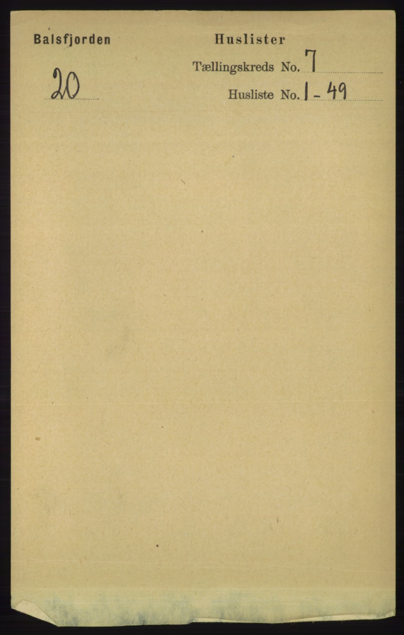RA, Folketelling 1891 for 1933 Balsfjord herred, 1891, s. 1972