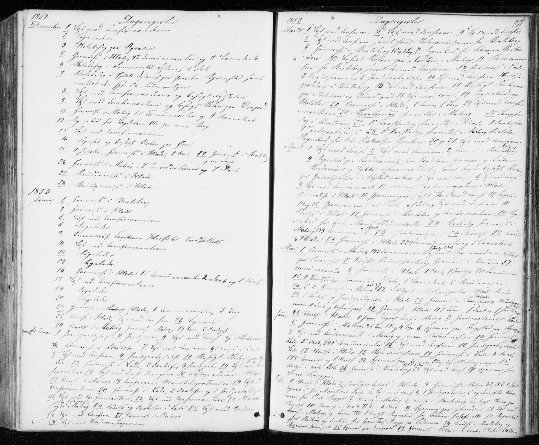 SAT, Ministerialprotokoller, klokkerbøker og fødselsregistre - Sør-Trøndelag, 606/L0291: Ministerialbok nr. 606A06, 1848-1856, s. 371