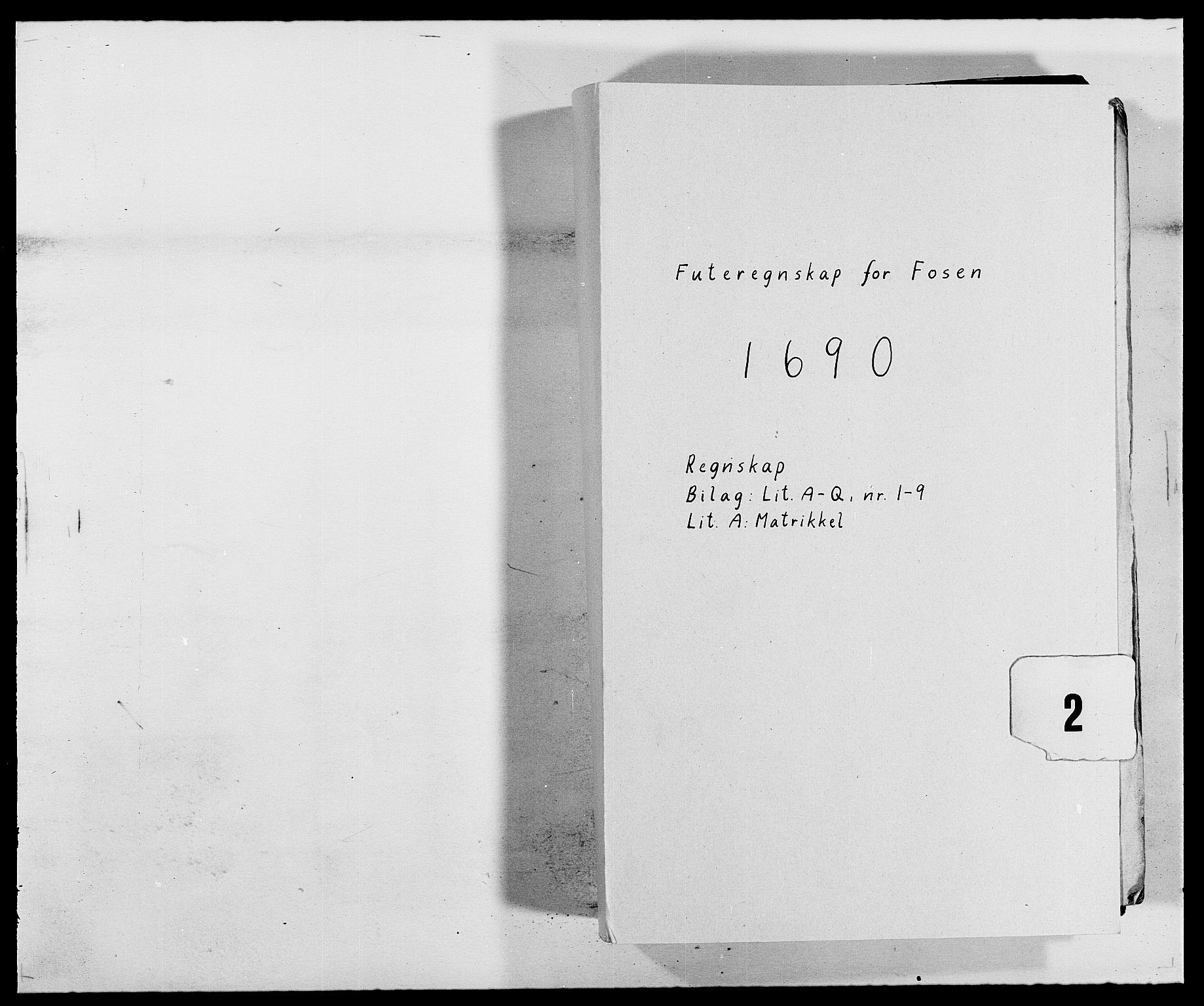 RA, Rentekammeret inntil 1814, Reviderte regnskaper, Fogderegnskap, R57/L3848: Fogderegnskap Fosen, 1690-1691, s. 1