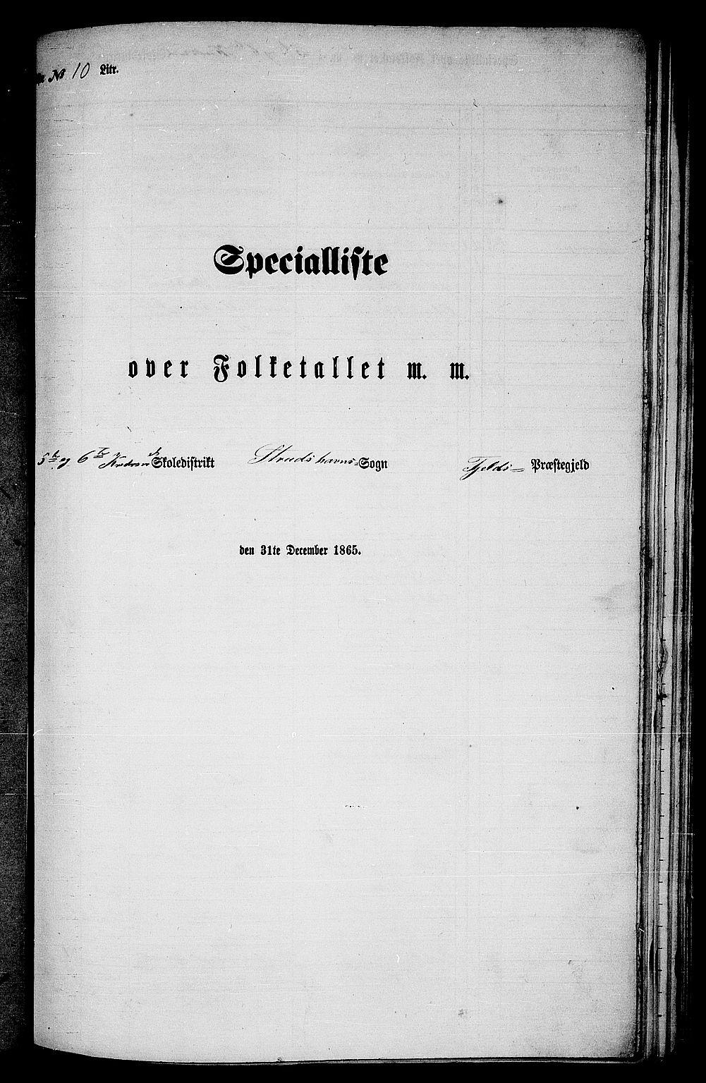 RA, Folketelling 1865 for 1246P Fjell prestegjeld, 1865, s. 160