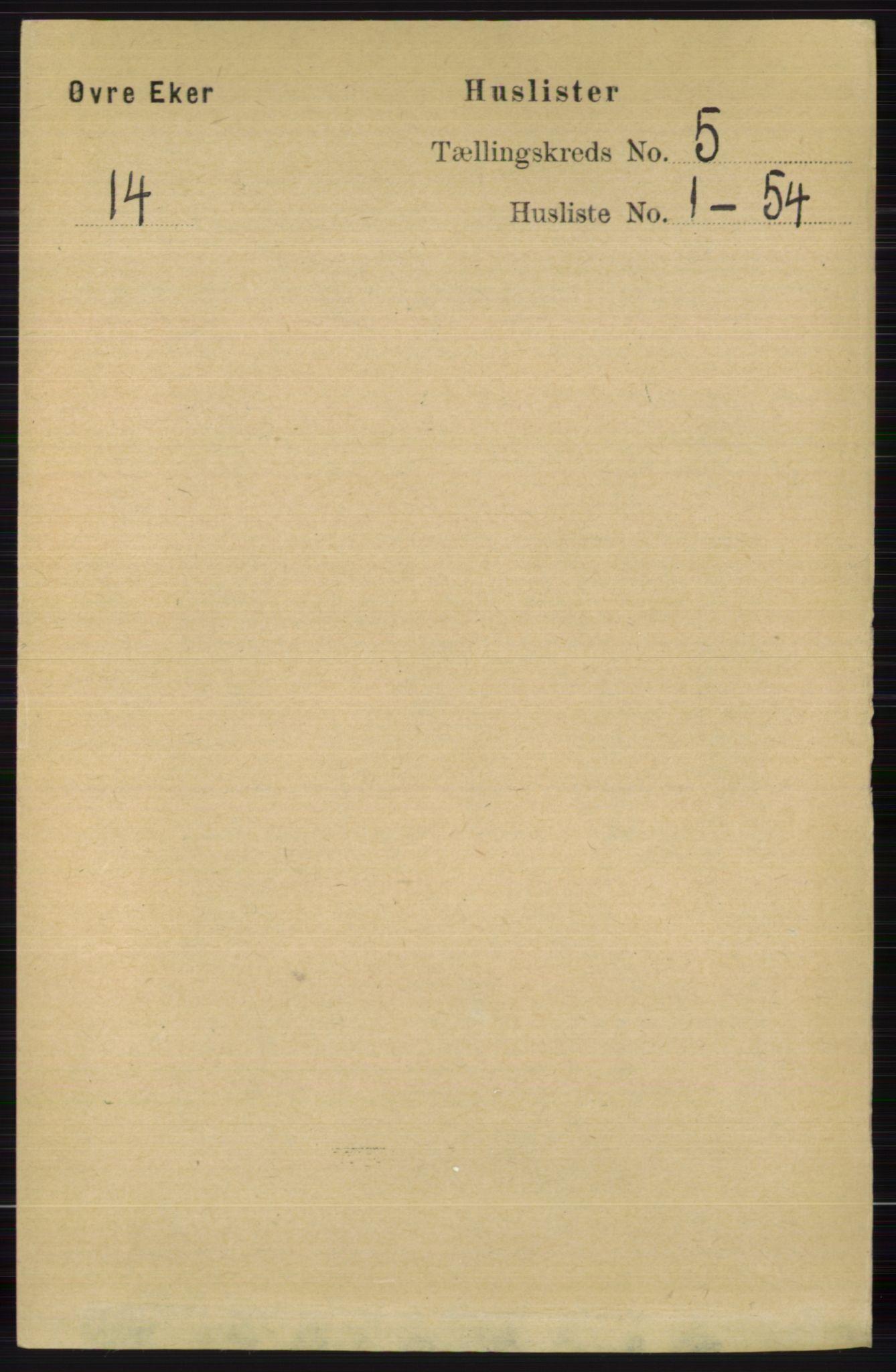 RA, Folketelling 1891 for 0624 Øvre Eiker herred, 1891, s. 1772