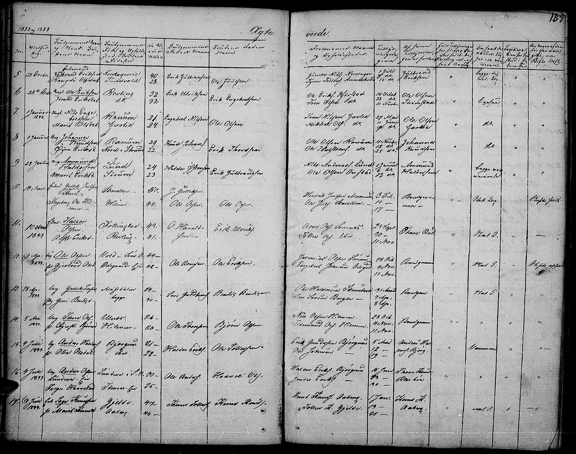 SAH, Nord-Aurdal prestekontor, Ministerialbok nr. 3, 1828-1841, s. 157