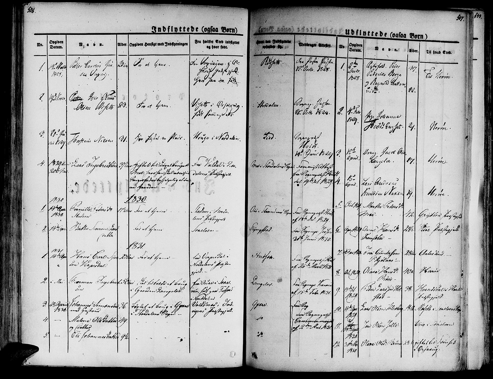 SAT, Ministerialprotokoller, klokkerbøker og fødselsregistre - Møre og Romsdal, 520/L0274: Ministerialbok nr. 520A04, 1827-1864, s. 506-507