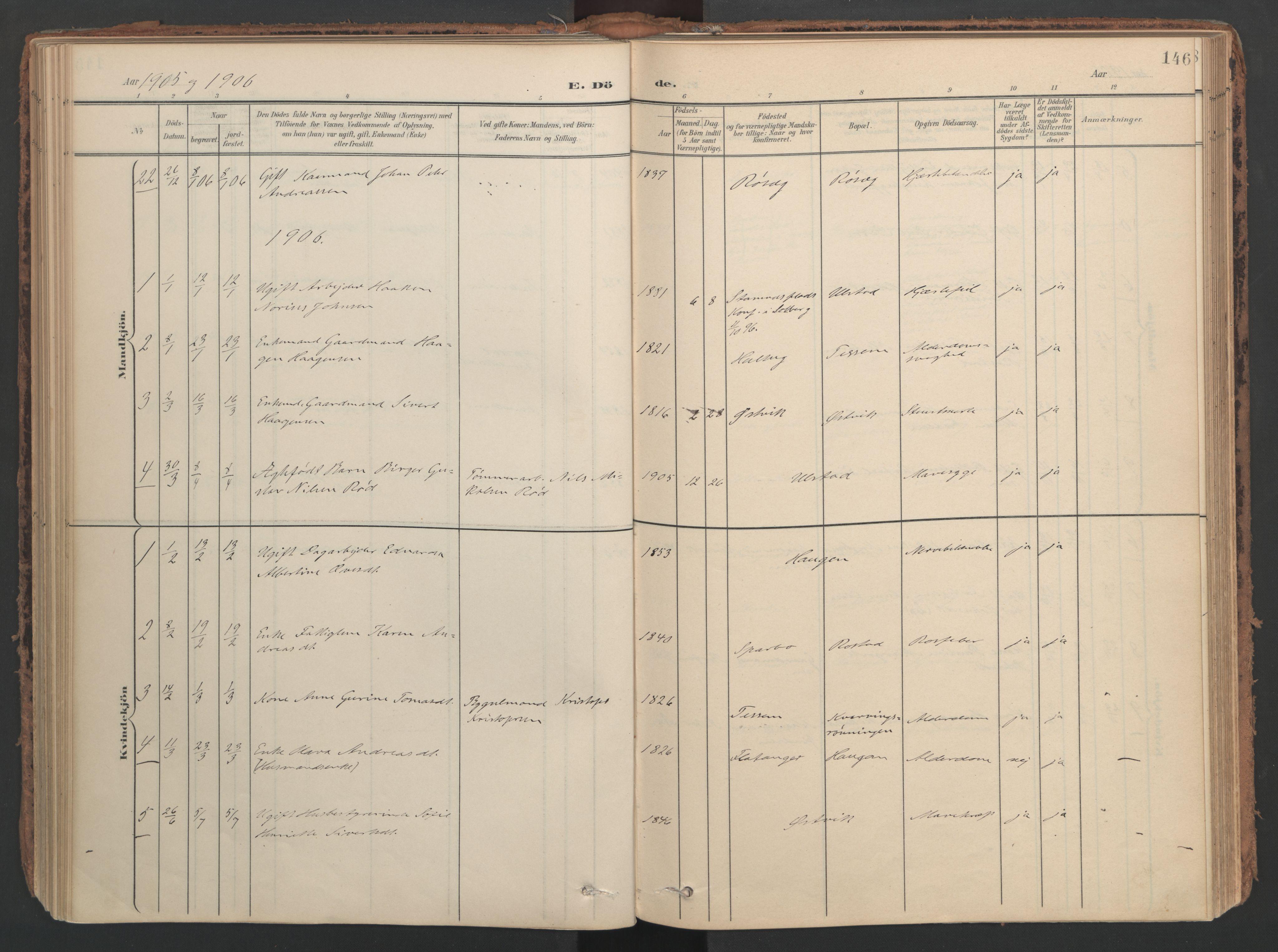 SAT, Ministerialprotokoller, klokkerbøker og fødselsregistre - Nord-Trøndelag, 741/L0397: Ministerialbok nr. 741A11, 1901-1911, s. 146