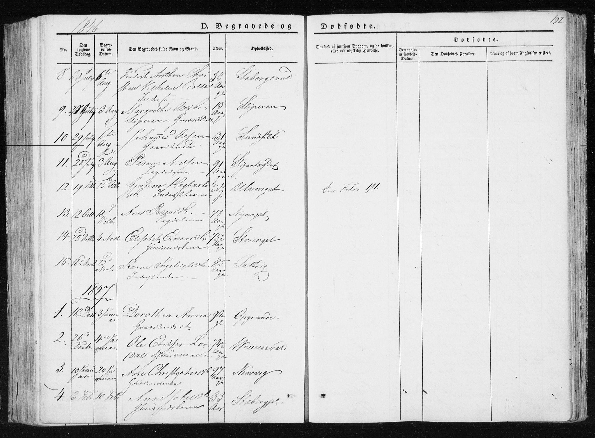 SAT, Ministerialprotokoller, klokkerbøker og fødselsregistre - Nord-Trøndelag, 733/L0323: Ministerialbok nr. 733A02, 1843-1870, s. 192