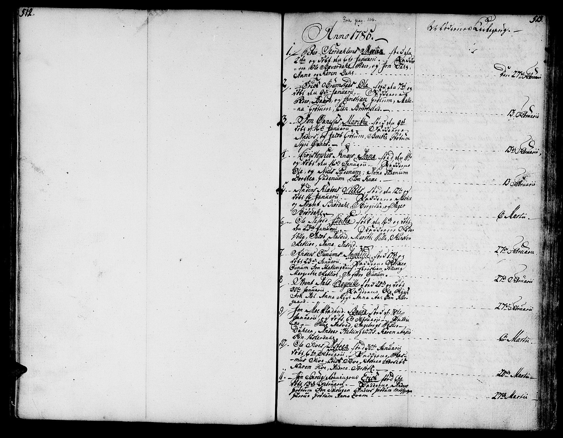 SAT, Ministerialprotokoller, klokkerbøker og fødselsregistre - Nord-Trøndelag, 746/L0440: Ministerialbok nr. 746A02, 1760-1815, s. 512-513