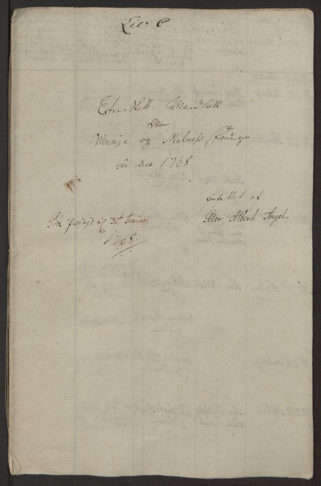 RA, Rentekammeret inntil 1814, Realistisk ordnet avdeling, Ol/L0022a: [Gg 10]: Ekstraskatten, 23.09.1762. Nordlands amt, 1763-1769, s. 122