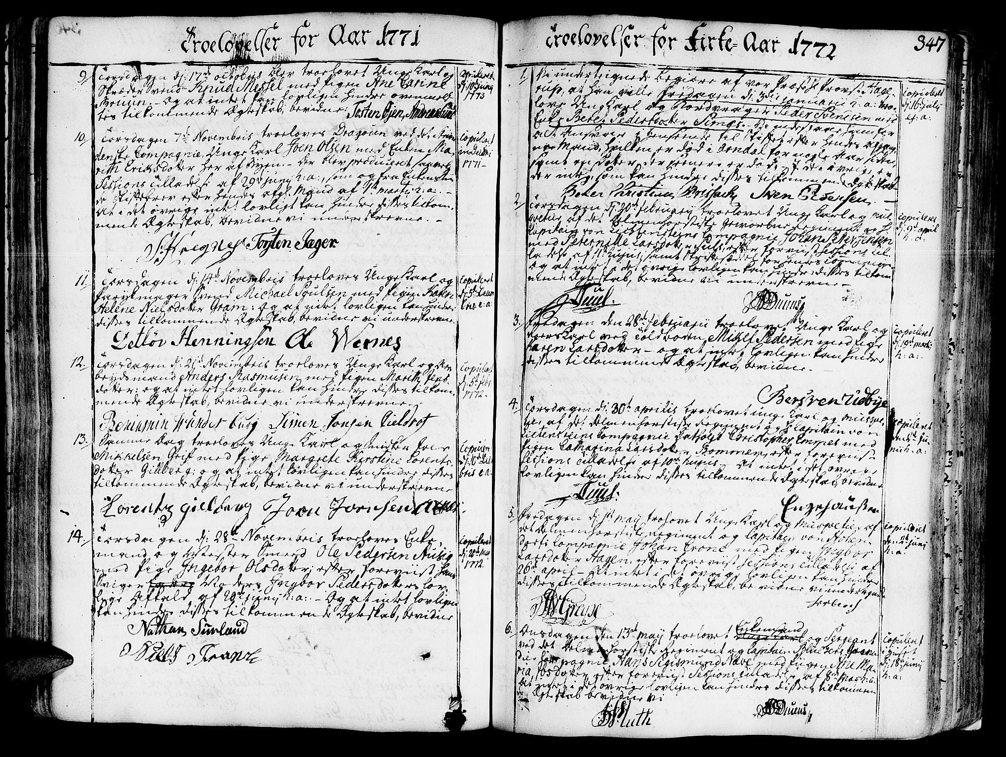 SAT, Ministerialprotokoller, klokkerbøker og fødselsregistre - Sør-Trøndelag, 602/L0103: Ministerialbok nr. 602A01, 1732-1774, s. 347