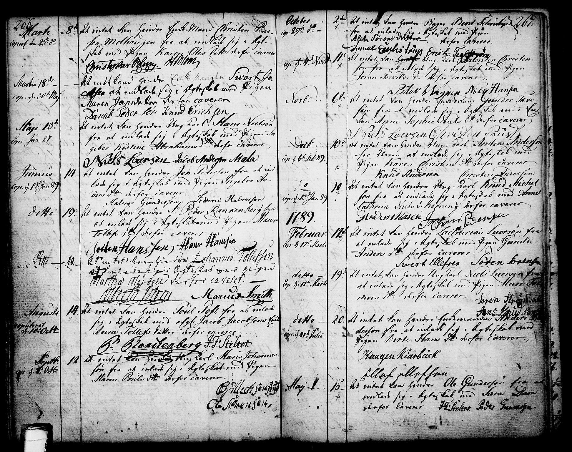 SAKO, Skien kirkebøker, F/Fa/L0003: Ministerialbok nr. 3, 1755-1791, s. 266-267