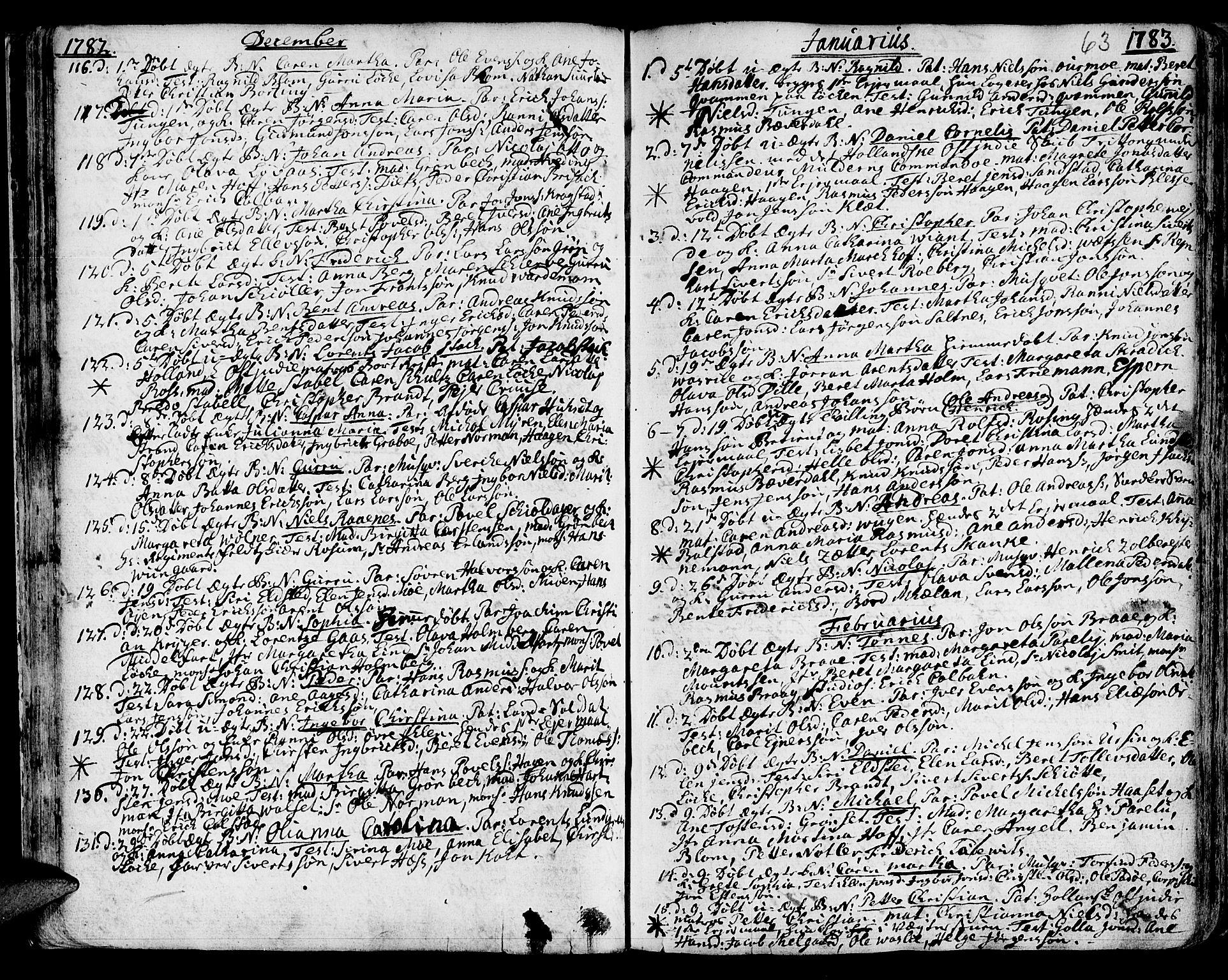 SAT, Ministerialprotokoller, klokkerbøker og fødselsregistre - Sør-Trøndelag, 601/L0039: Ministerialbok nr. 601A07, 1770-1819, s. 63