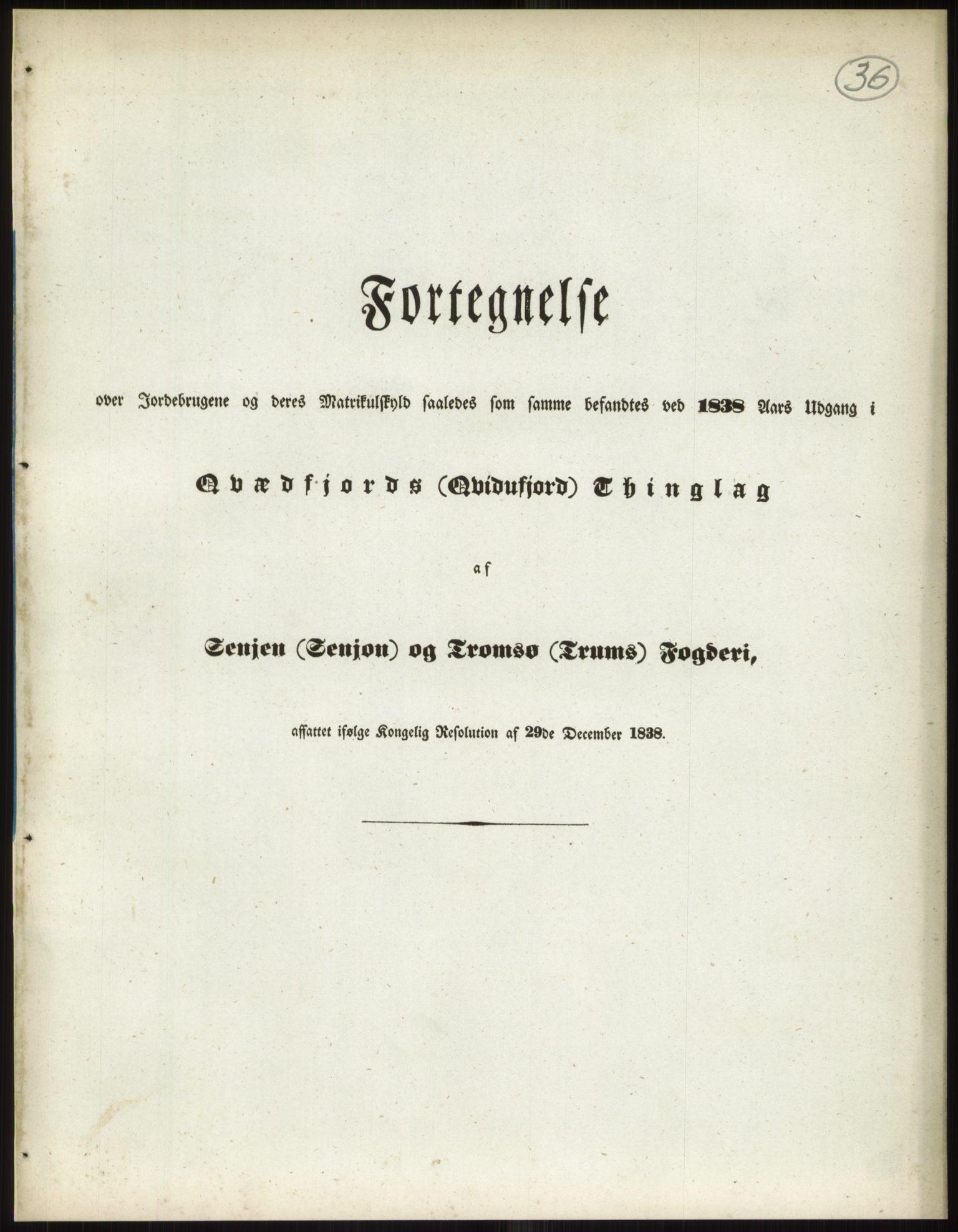 RA, 1838-matrikkelen (publikasjon)*, 1838, s. 36a