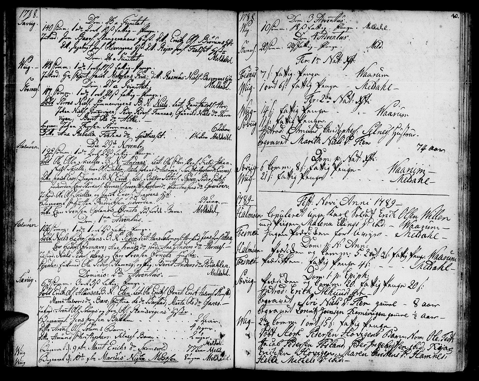 SAT, Ministerialprotokoller, klokkerbøker og fødselsregistre - Nord-Trøndelag, 773/L0608: Ministerialbok nr. 773A02, 1784-1816, s. 40