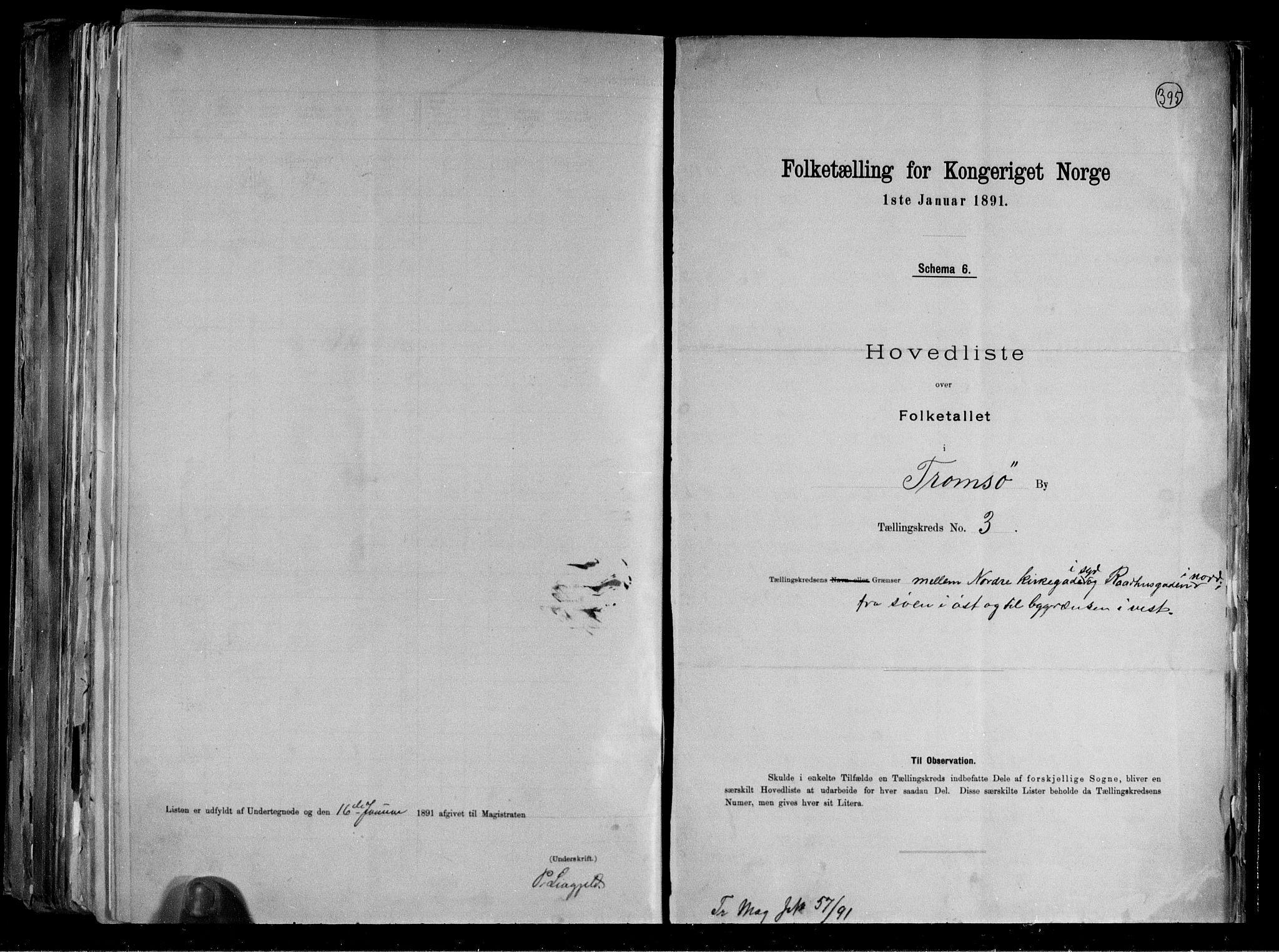 RA, Folketelling 1891 for 1902 Tromsø kjøpstad, 1891, s. 13
